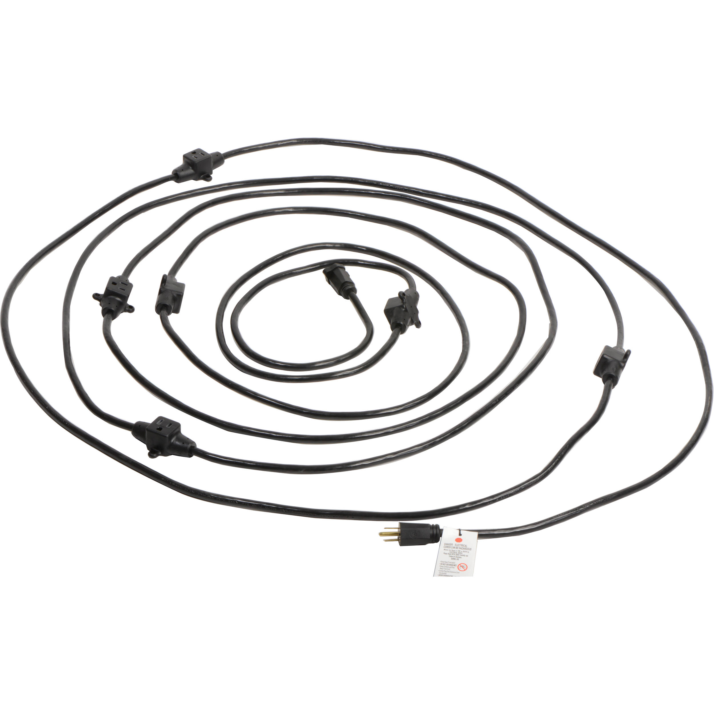 milspec 14 gauge multi outlet power cable d19006339 b h photo  milspec 14 gauge multi outlet power cable 32 5 black