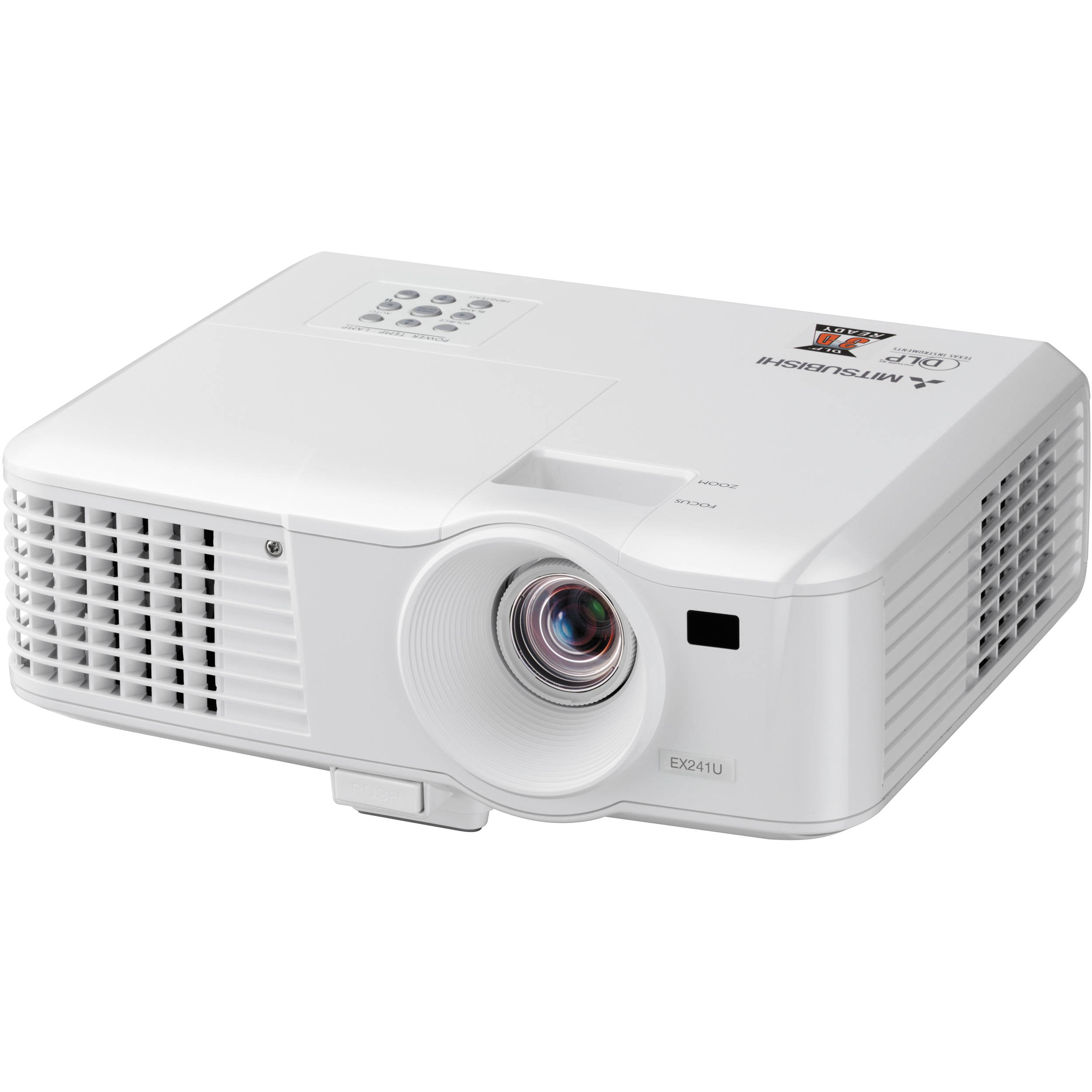 Mitsubishi ex241u mobile xga dlp projector ex241u b h photo for Dlp portable projector
