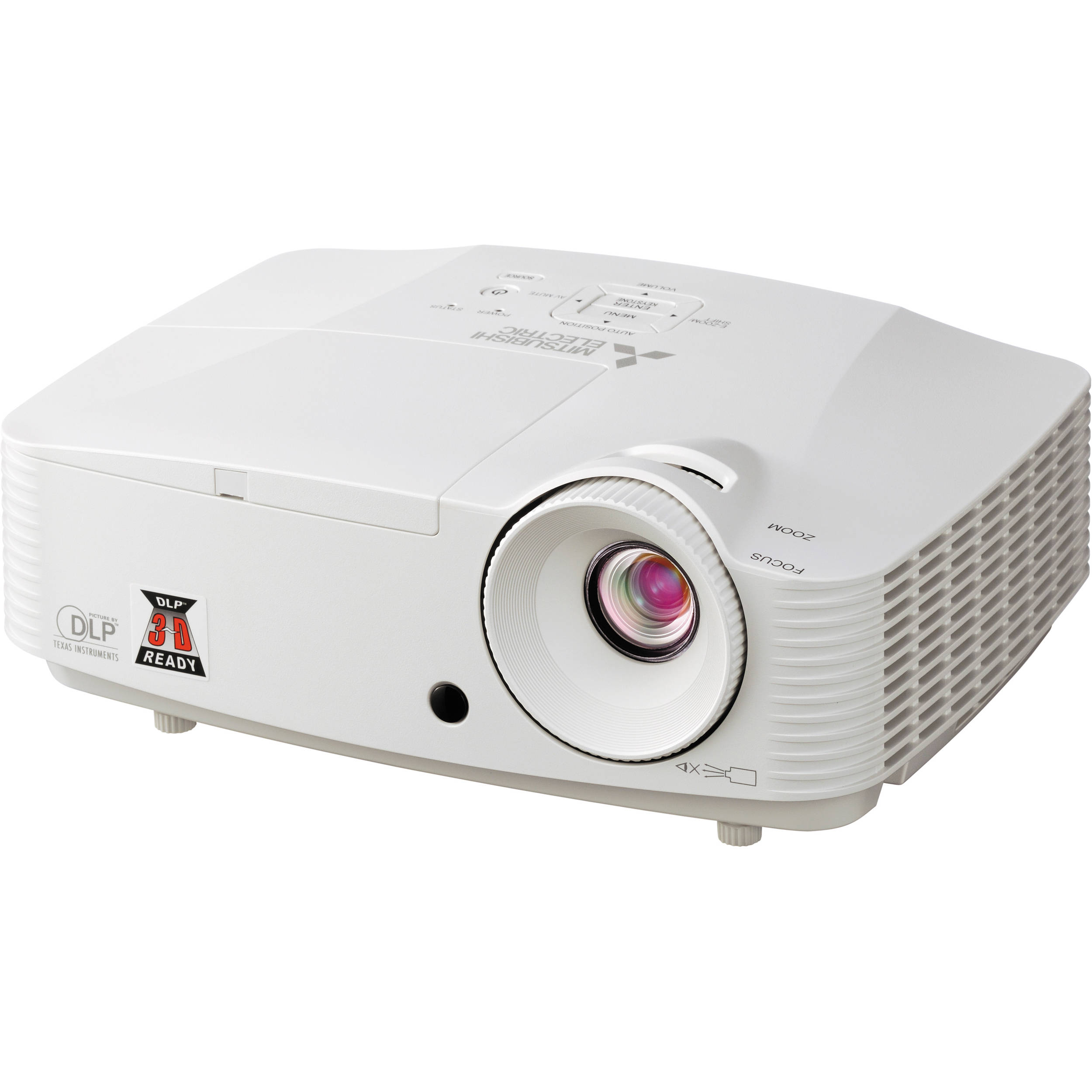 Mitsubishi tw11u portable wxga dlp 3d ready projector for Dlp portable projector
