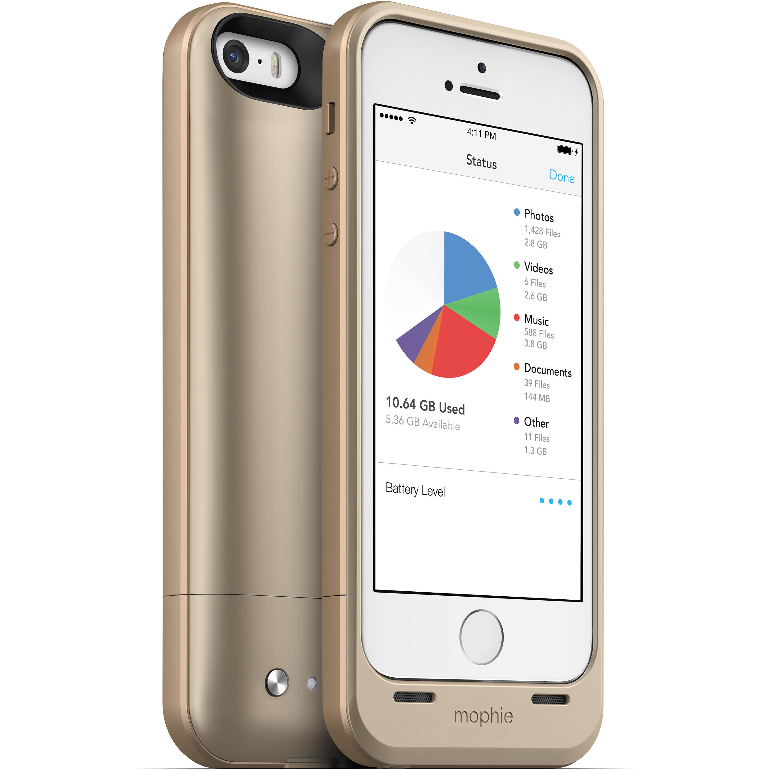 used mophie 32gb space pack for iphone 5 5s gold 2936 b h. Black Bedroom Furniture Sets. Home Design Ideas