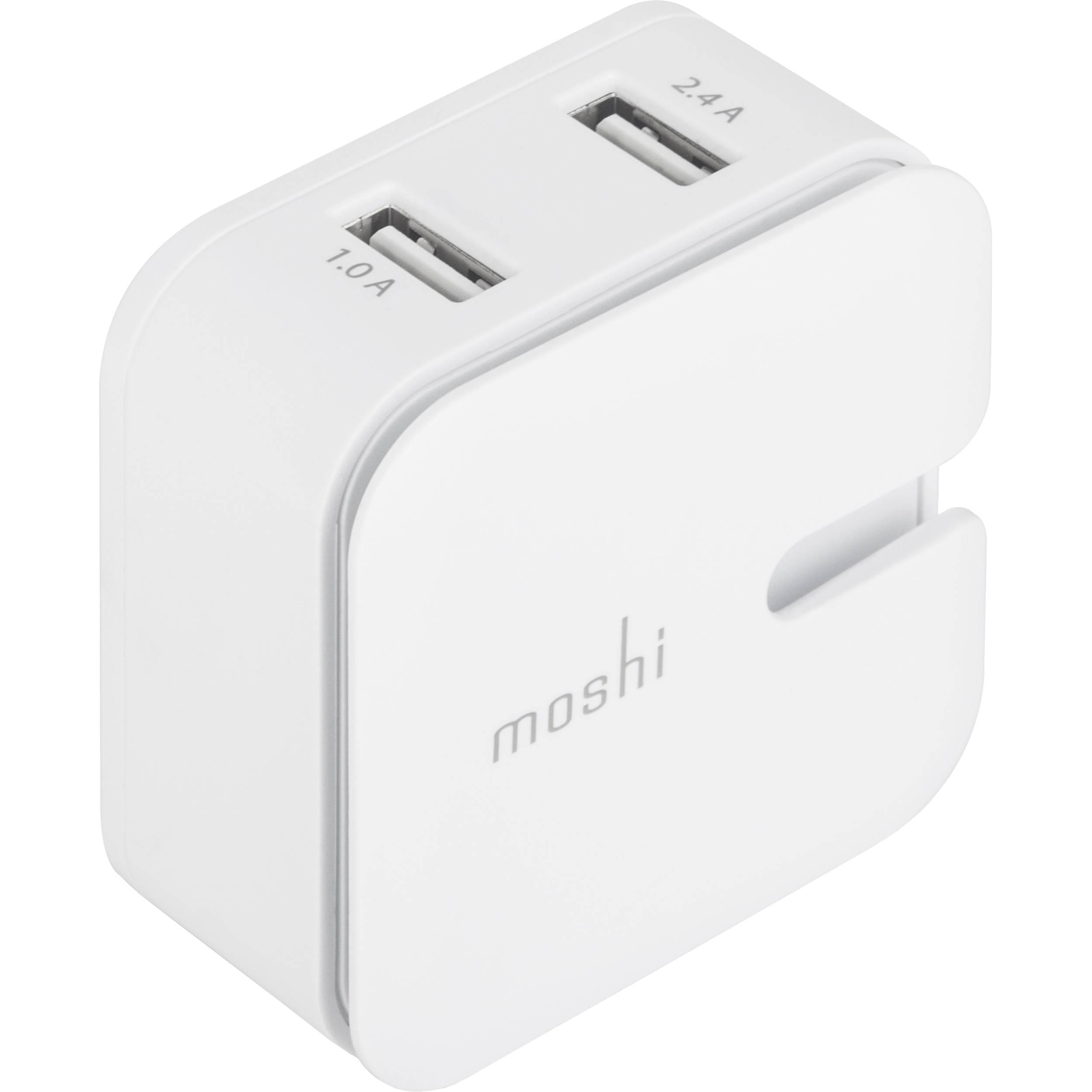 Moshi Rewind 2 Dual Port Usb Wall Charger 99mo022111 Bh Photo