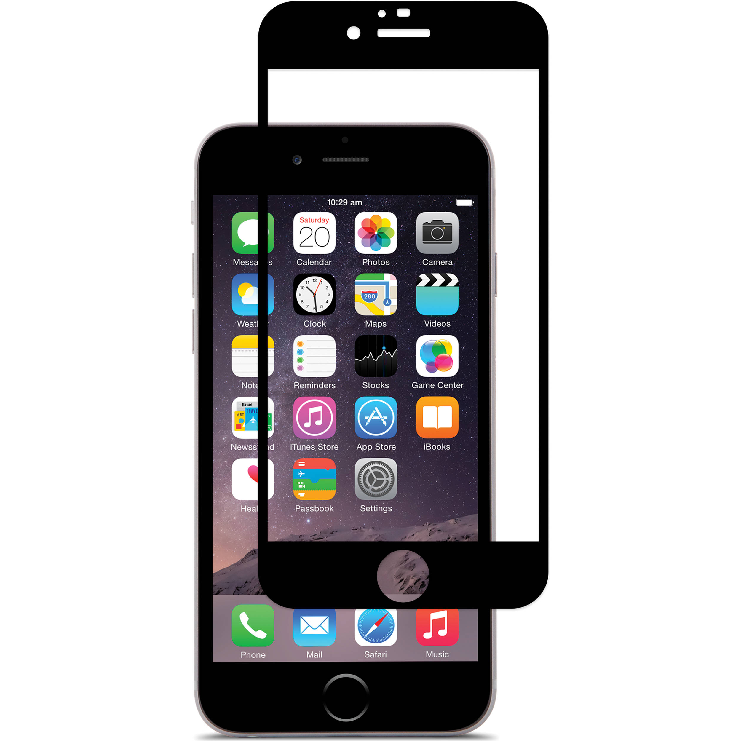 buy popular 313a1 a6ff5 Moshi iVisor Glass Screen Protector for iPhone 6 Plus/6s Plus (Black)