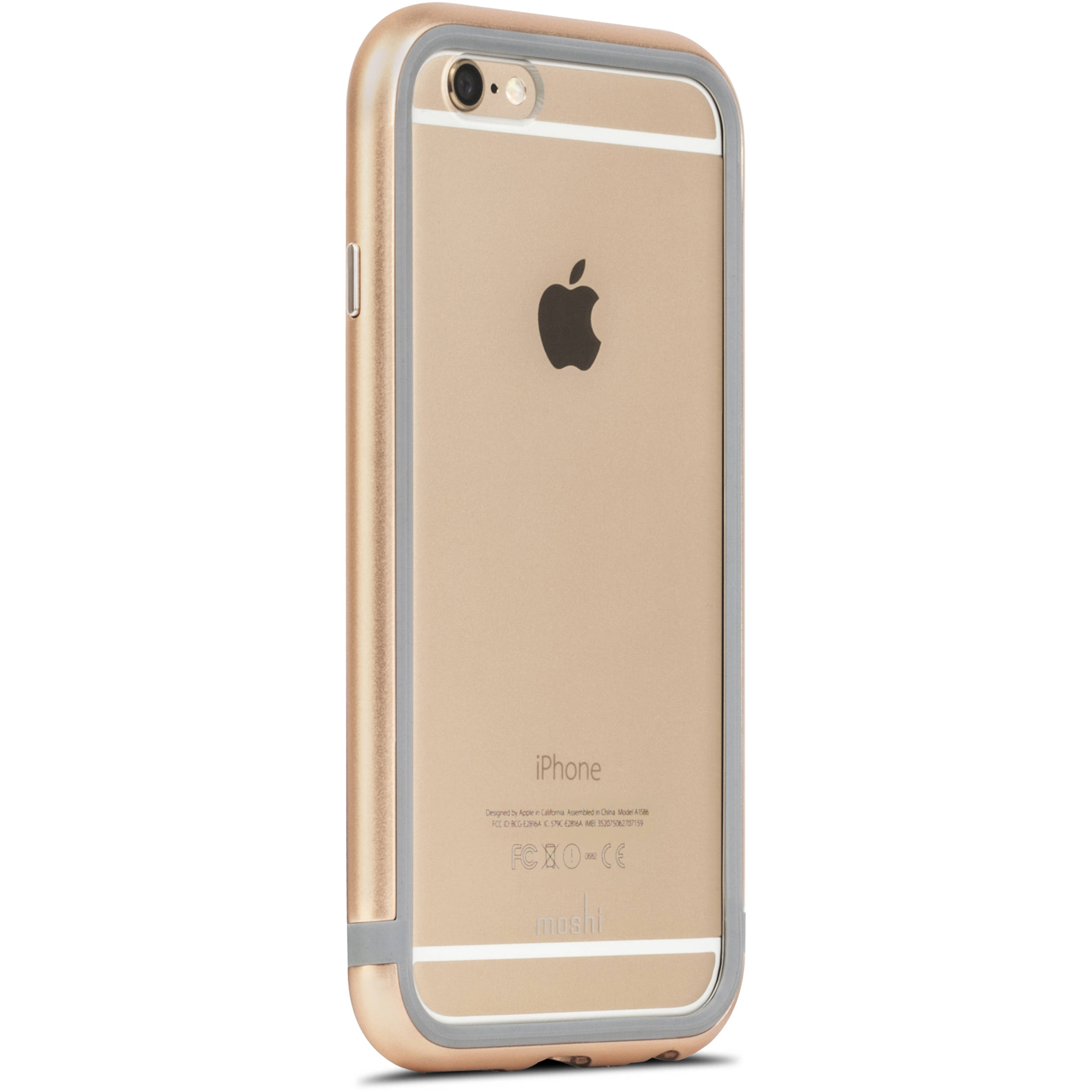 Case Design nike cell phone cases : Moshi iGlaze Luxe Metal Bumper Case for iPhone 6/6s (Satin Gold)