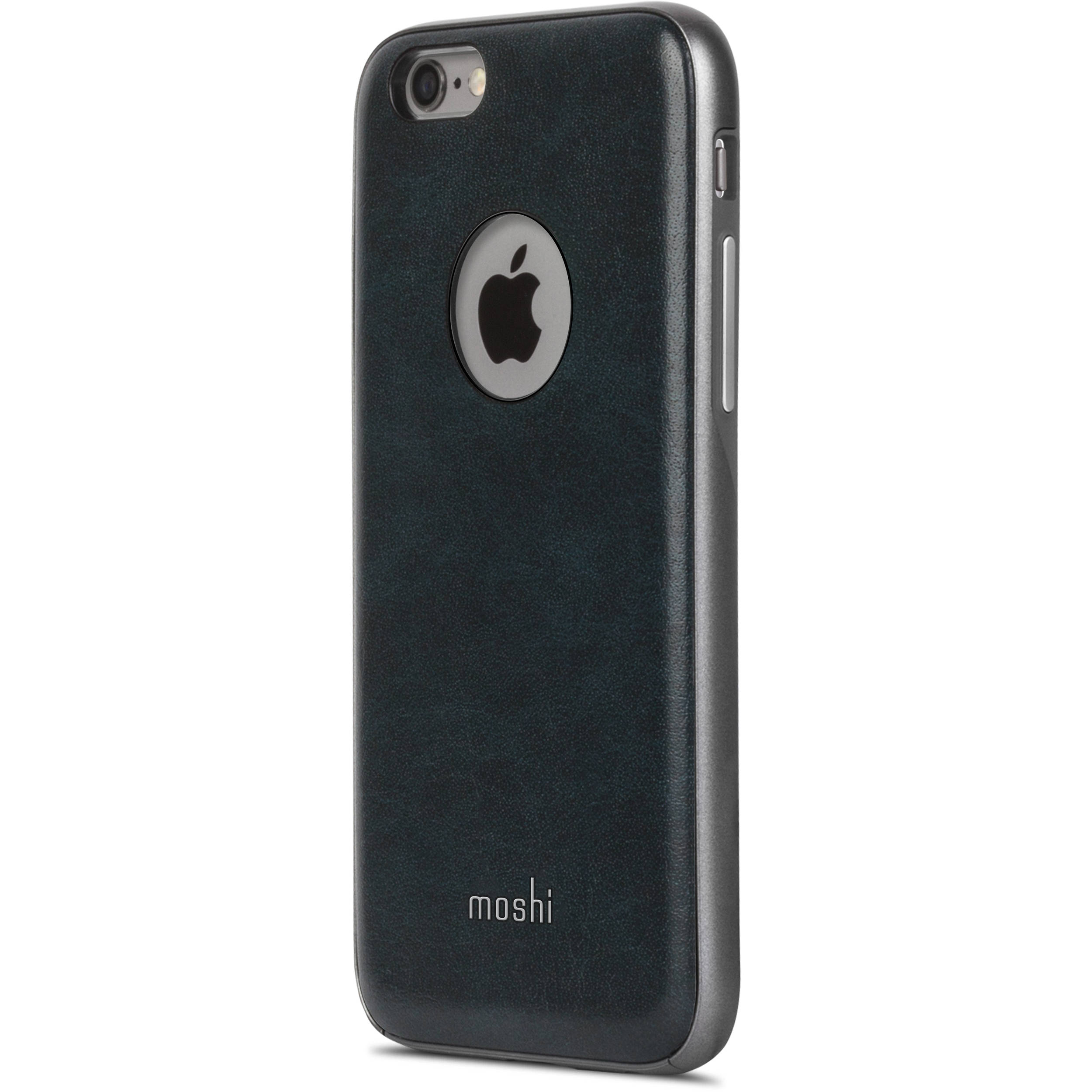 moshi iphone case moshi iglaze napa for iphone 6 6s midnight blue 7367