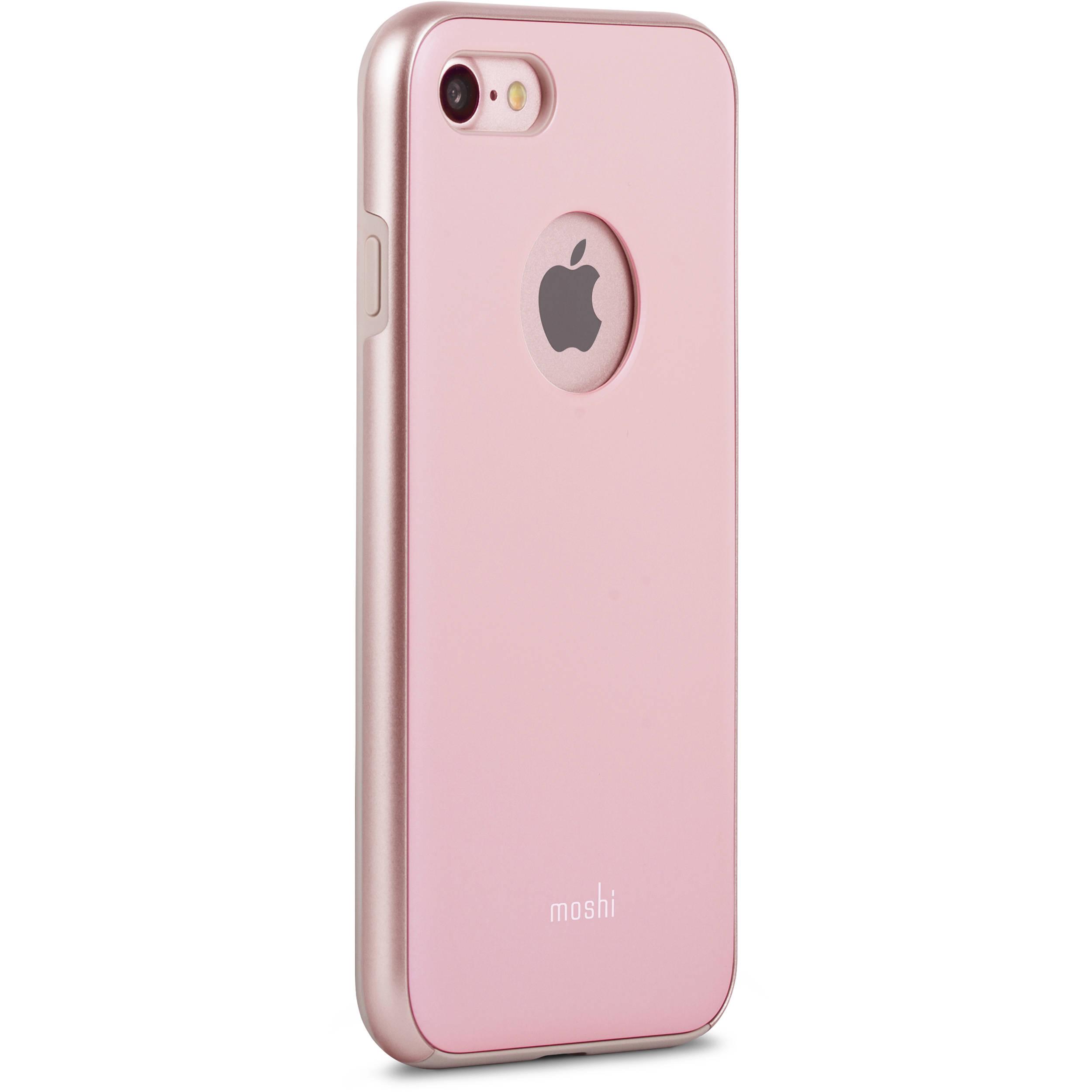 moshi iglaze case for iphone 7 pink 99mo088301 b h photo video. Black Bedroom Furniture Sets. Home Design Ideas