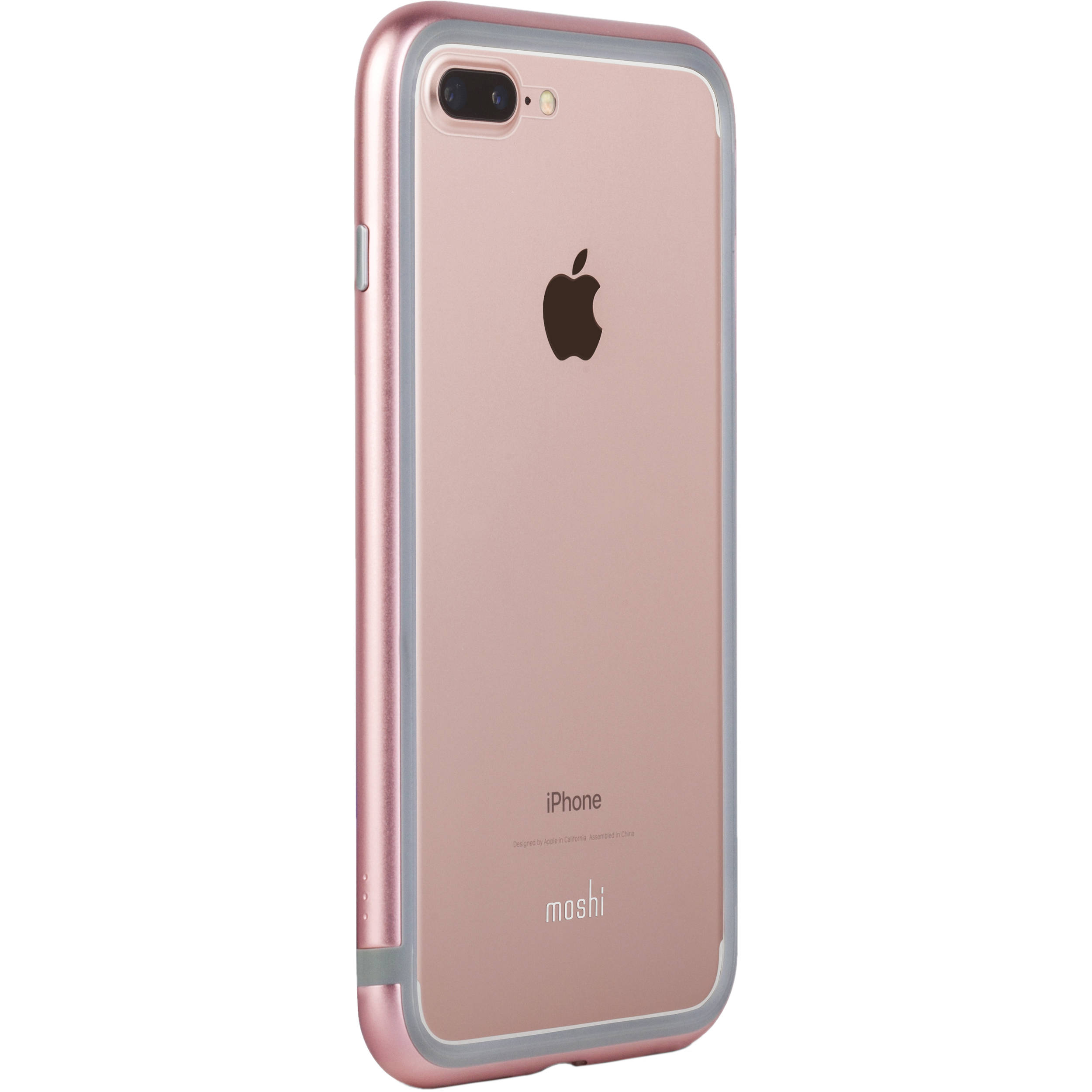 moshi luxe metal bumper case for iphone 7 plus pink 99mo090302. Black Bedroom Furniture Sets. Home Design Ideas