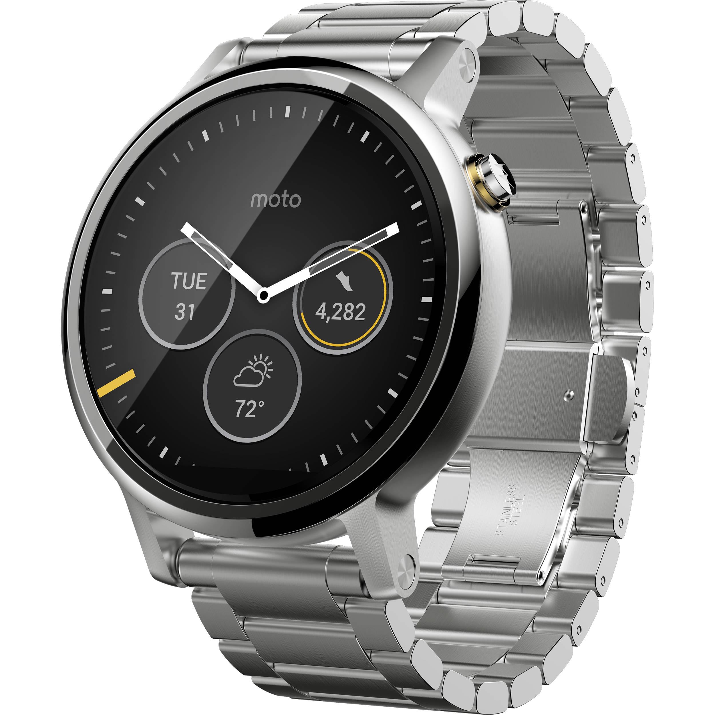 Used Moto 2nd Gen Moto 360 46mm Men's Smartwatch ...