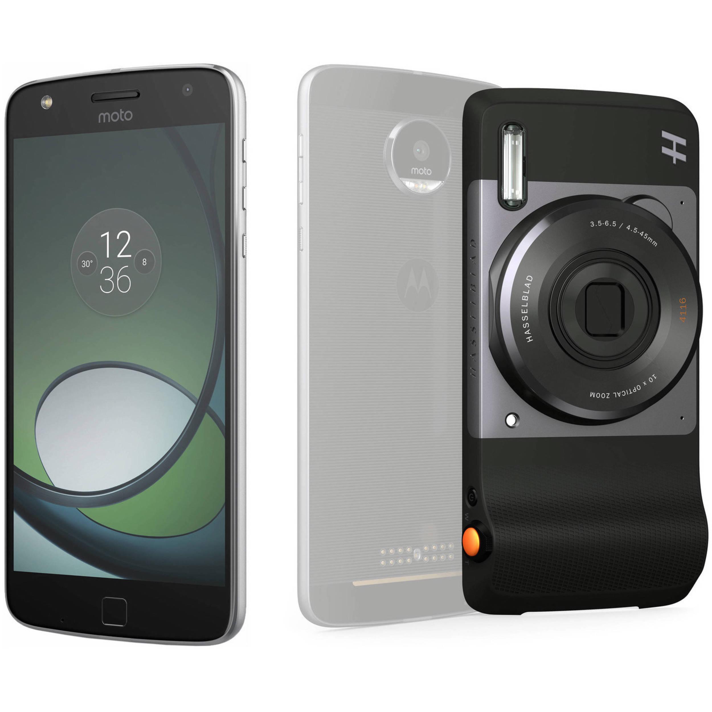 moto play. moto z play xt1635 32gb smartphone (unlocked, lunar gray) with hasselblad true zoom o