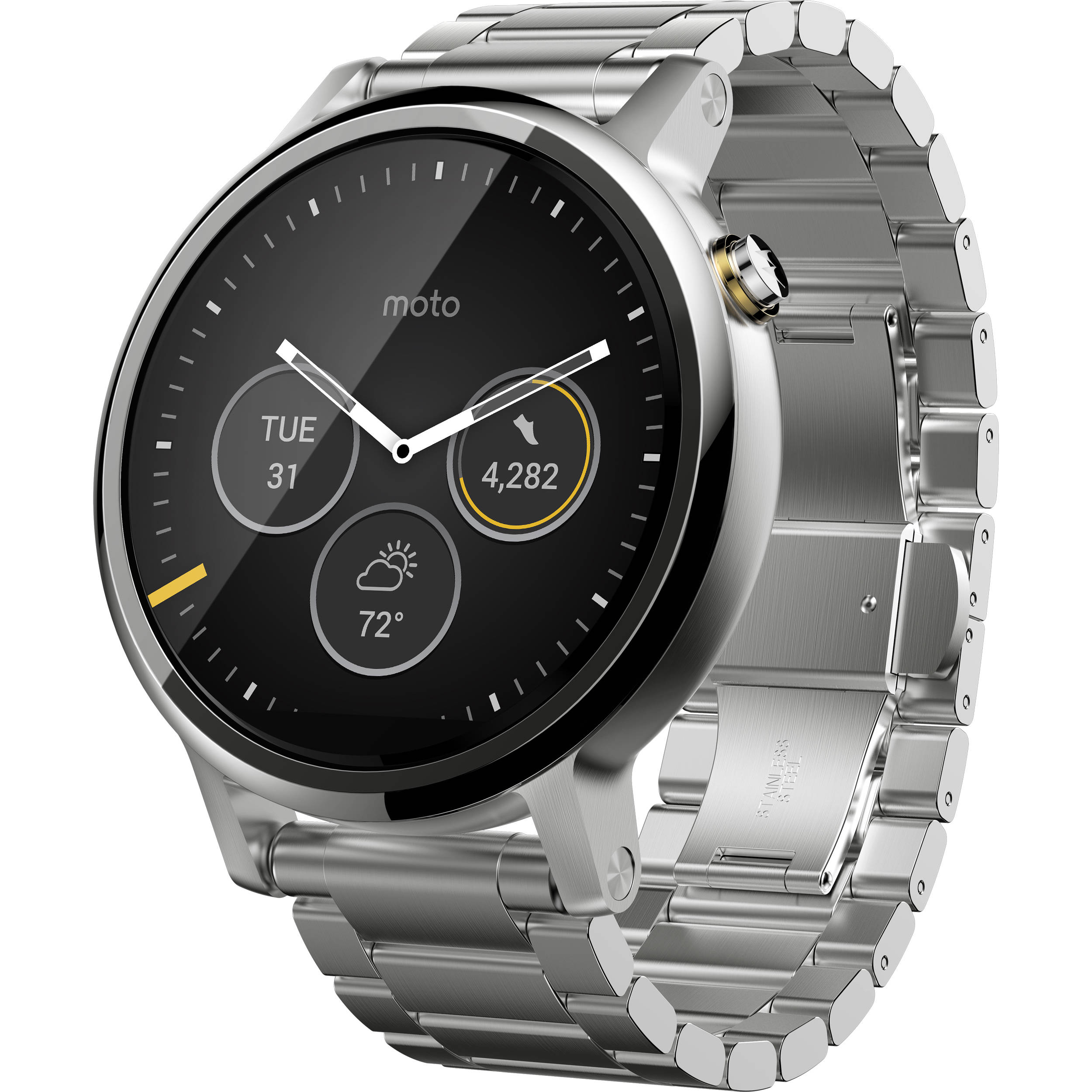 Moto 2nd Gen Moto 360 46mm Men's Smartwatch 00814NARTL B&H ...