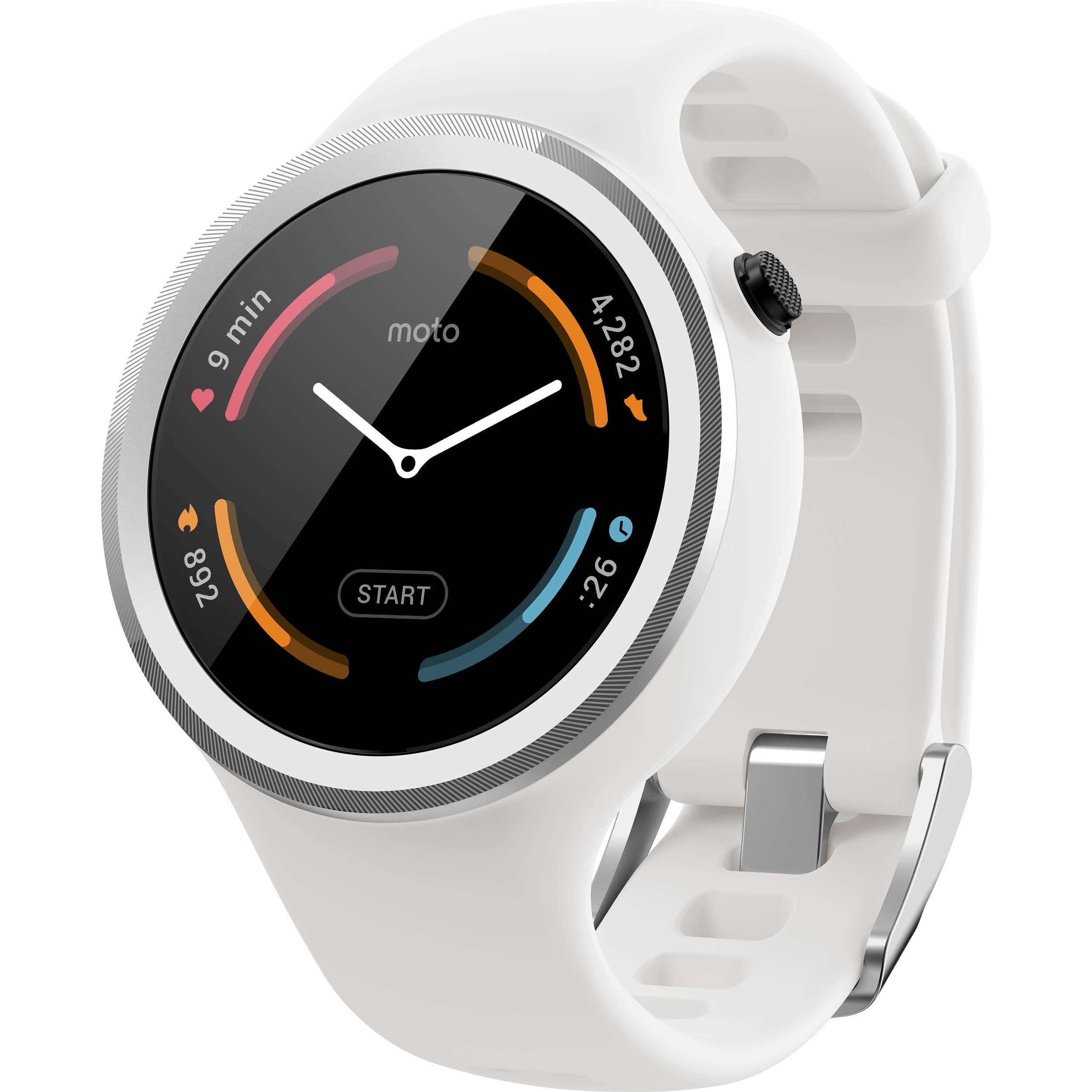 Motorola Moto 360 Sport Smartwatch (White) 00866NARTL B&H ...