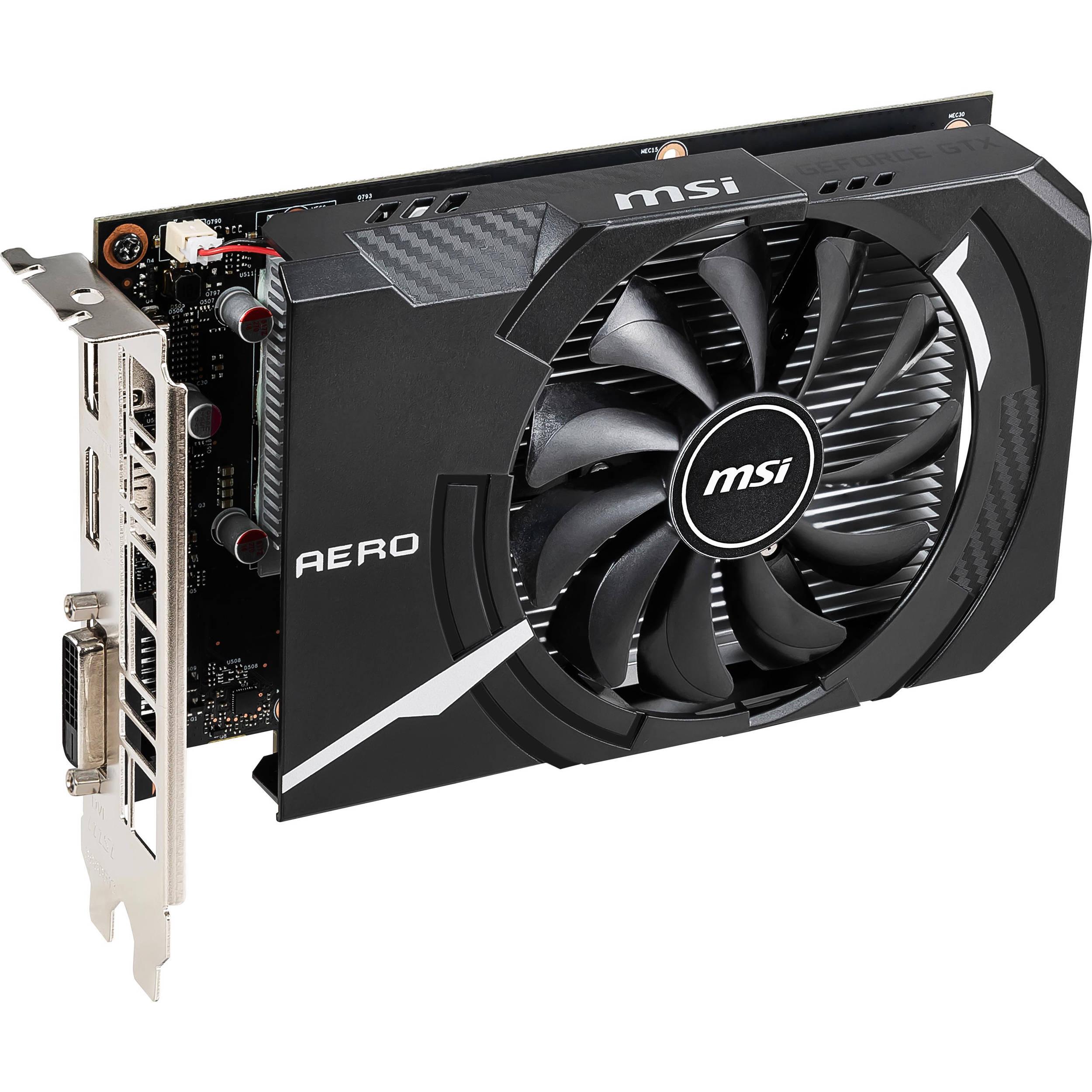 MSI GeForce GTX 1650 AERO ITX OC Graphics GTX 1650 AERO ITX 4G