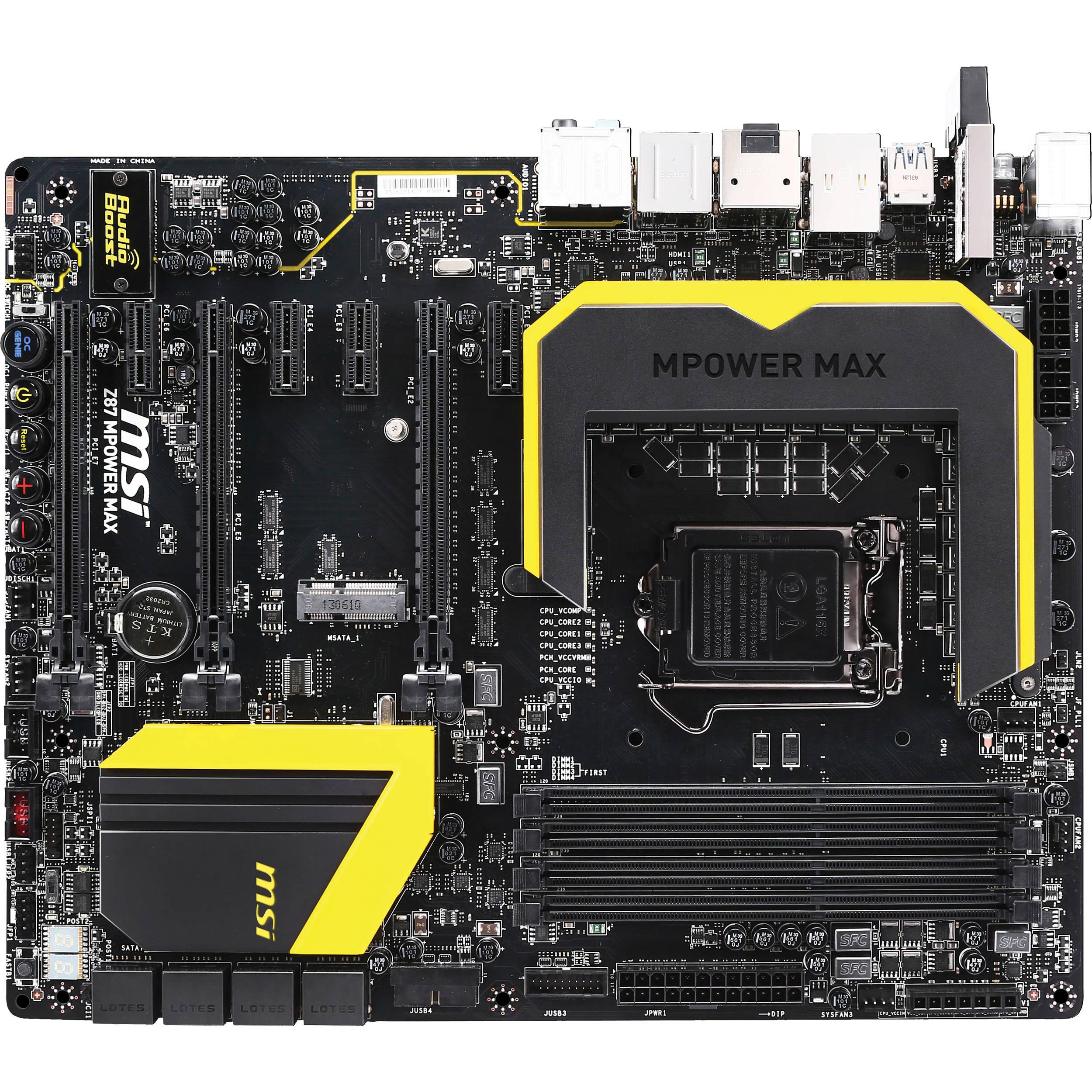 MSI Z87 MPOWER MAX Lucid Virtu MVP Graphics Drivers Windows 7