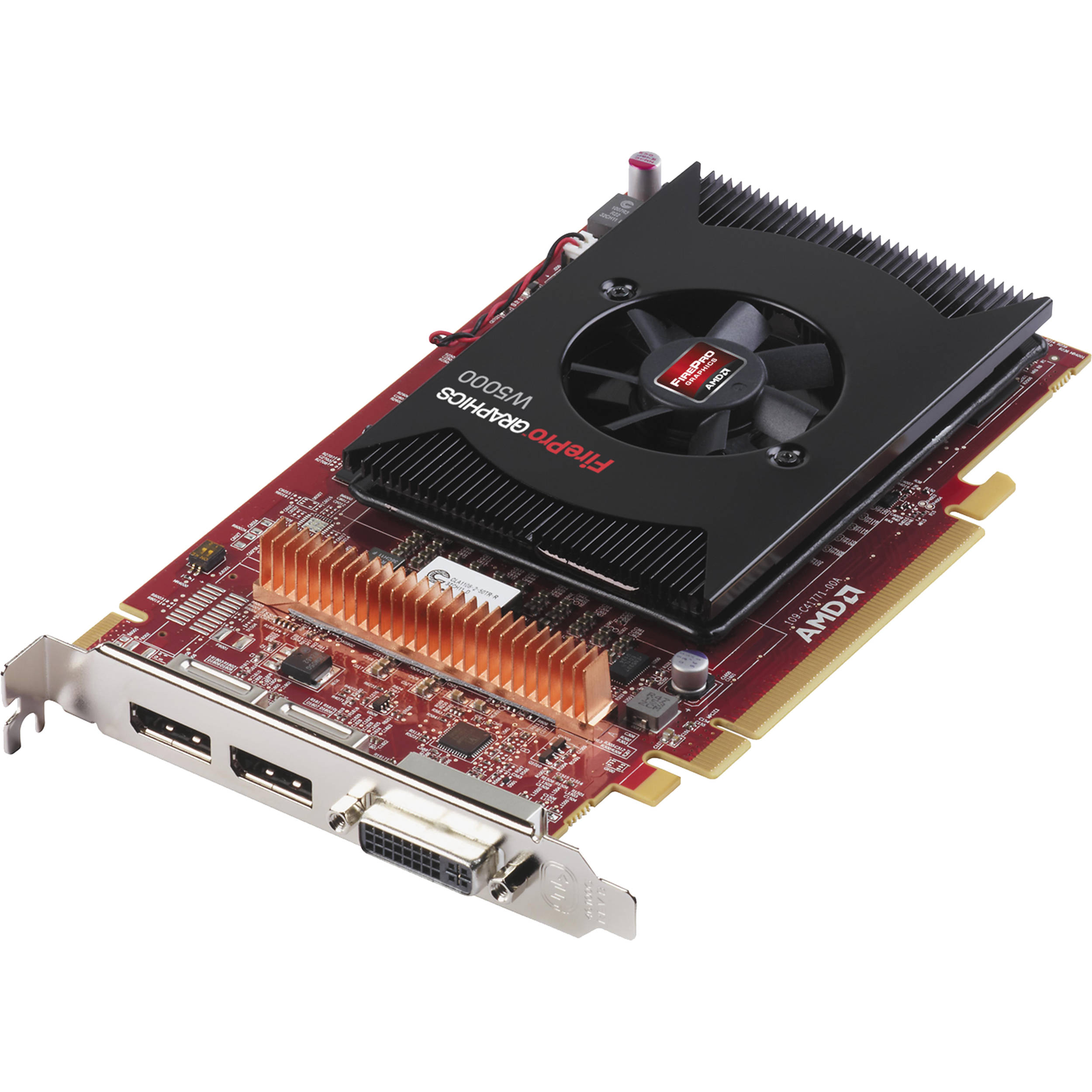 nec amd firepro w5000 dual displayport video card mda