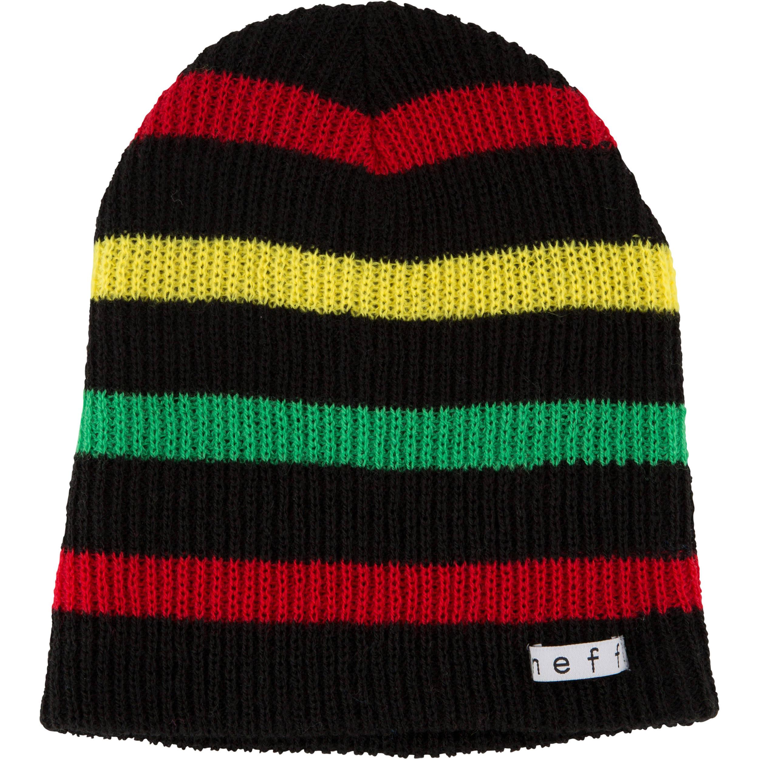 Neff Daily Stripe Beanie (Black Rasta) NF00007-BKRS B H Photo c57a49c737cd