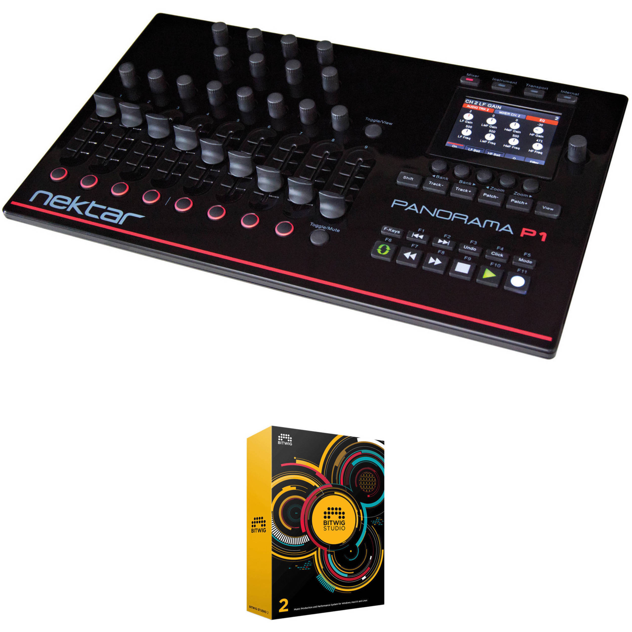 nektar technology panorama p1 midi controller and bitwig daw kit. Black Bedroom Furniture Sets. Home Design Ideas