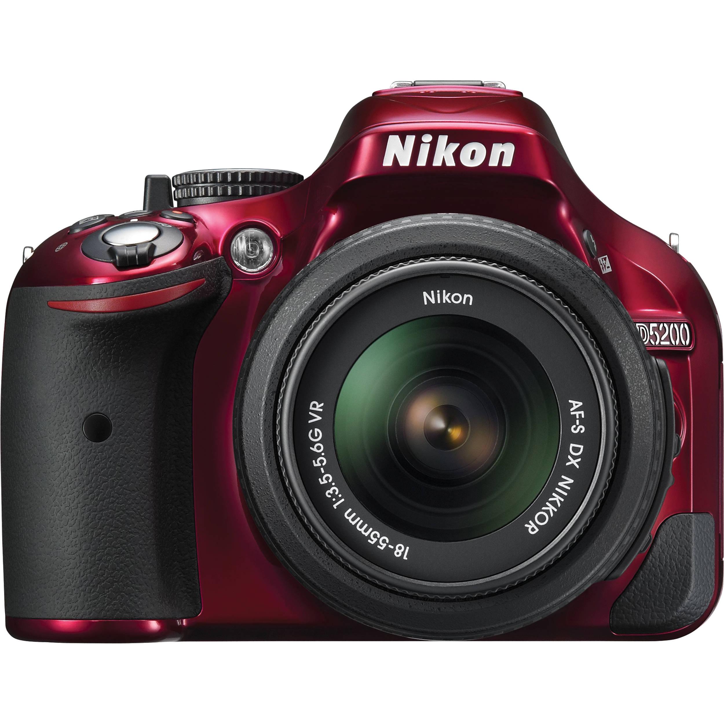 Nikon D5200 DSLR Camera with 18-55mm Lens (Red) 1507 B&H Photo