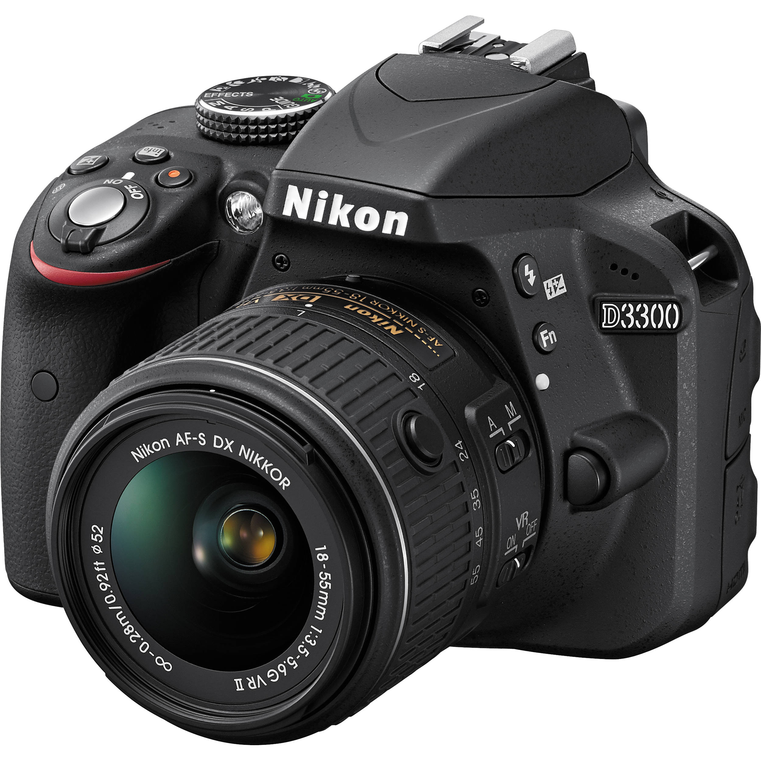 Nikon D3300 DSLR Camera with 1855mm Lens Black 1532 Bamp;H Photo