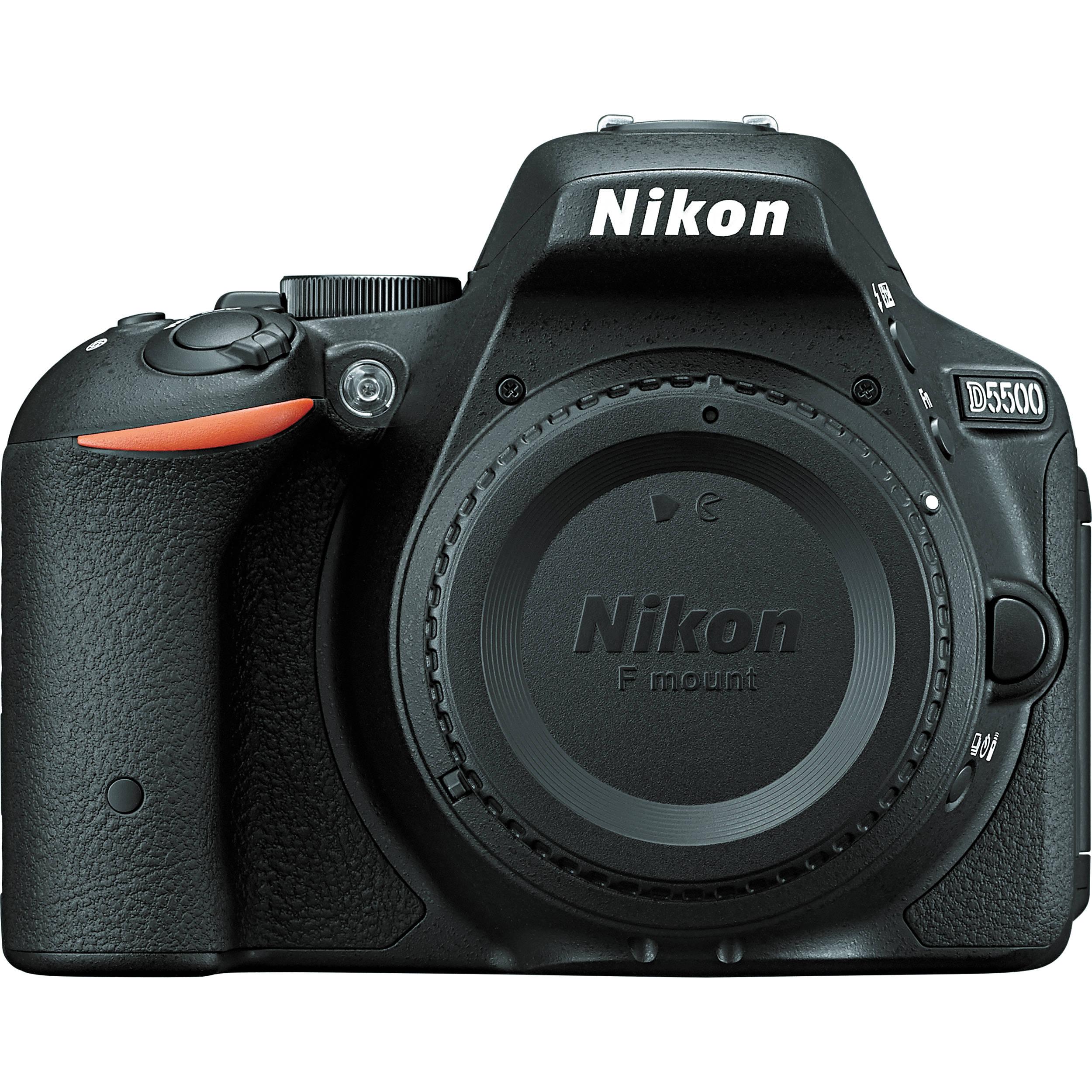 Nikon D5500 DSLR Camera (D5500 Body, Black) B&H Photo Video