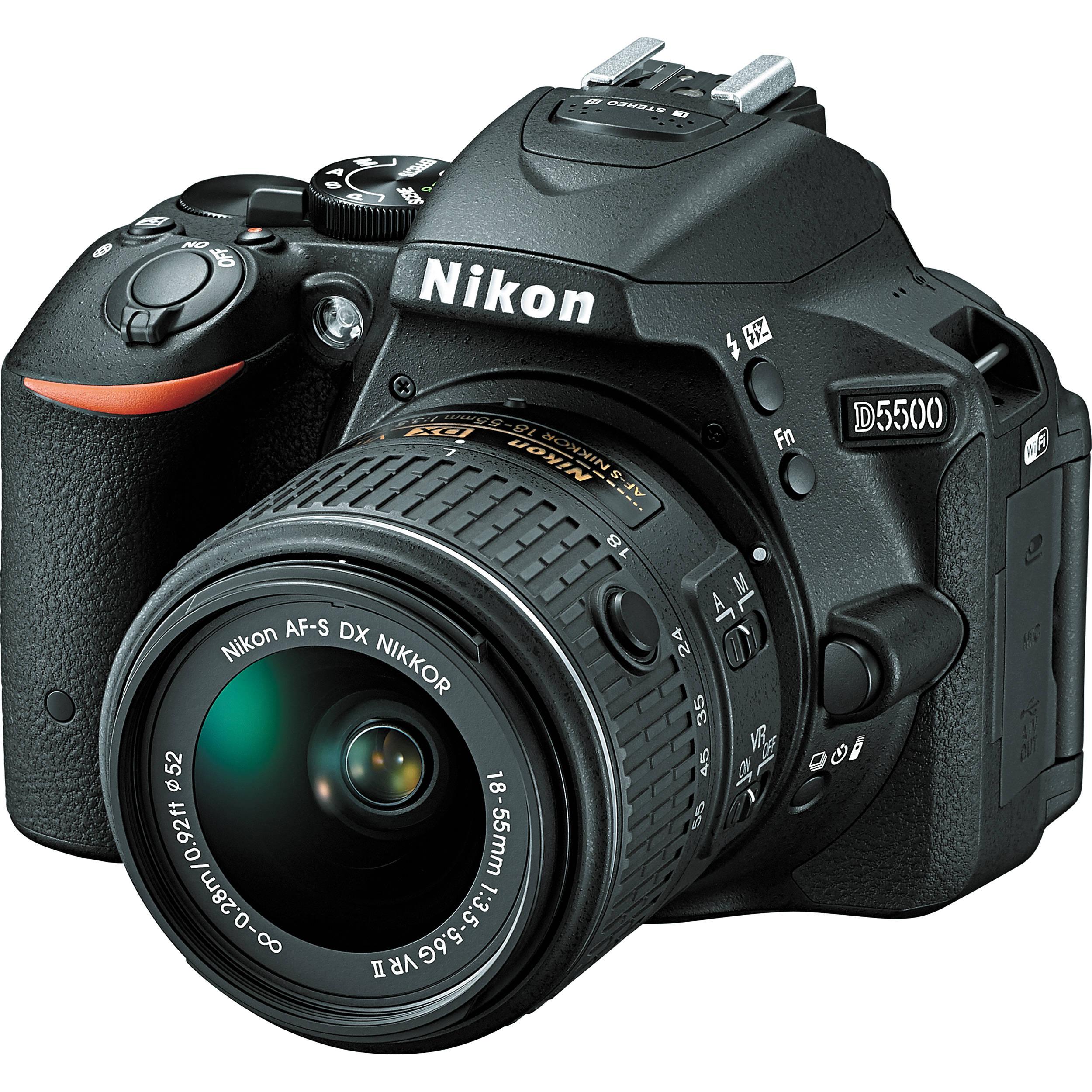 Camera The Newest Nikon Dslr Camera nikon d5500 dslr camera with 18 55mm lens black 1546 bh photo black