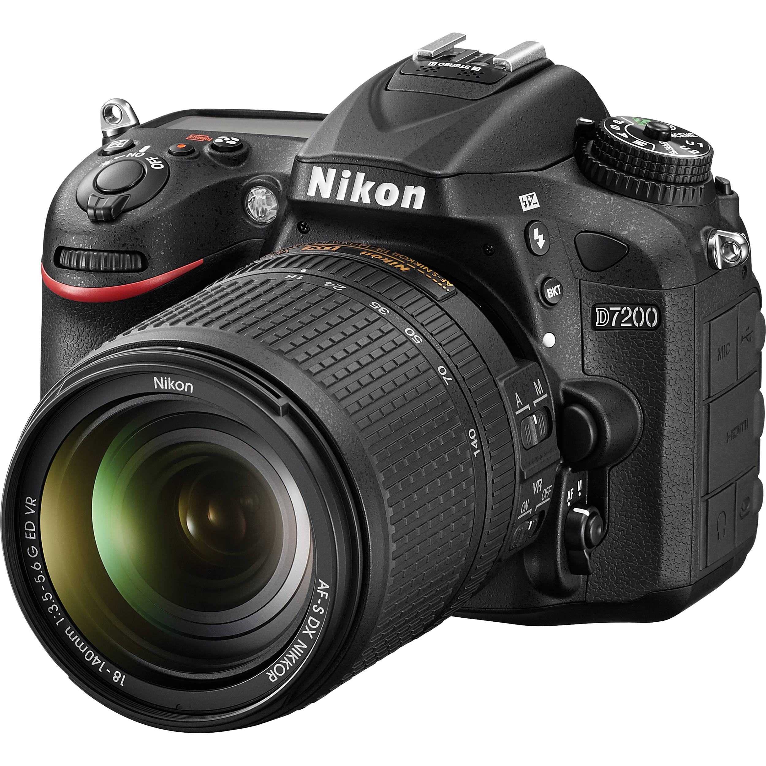 Nikon D7200 DSLR Camera with 18-140mm Lens 1555 B&H Photo Video