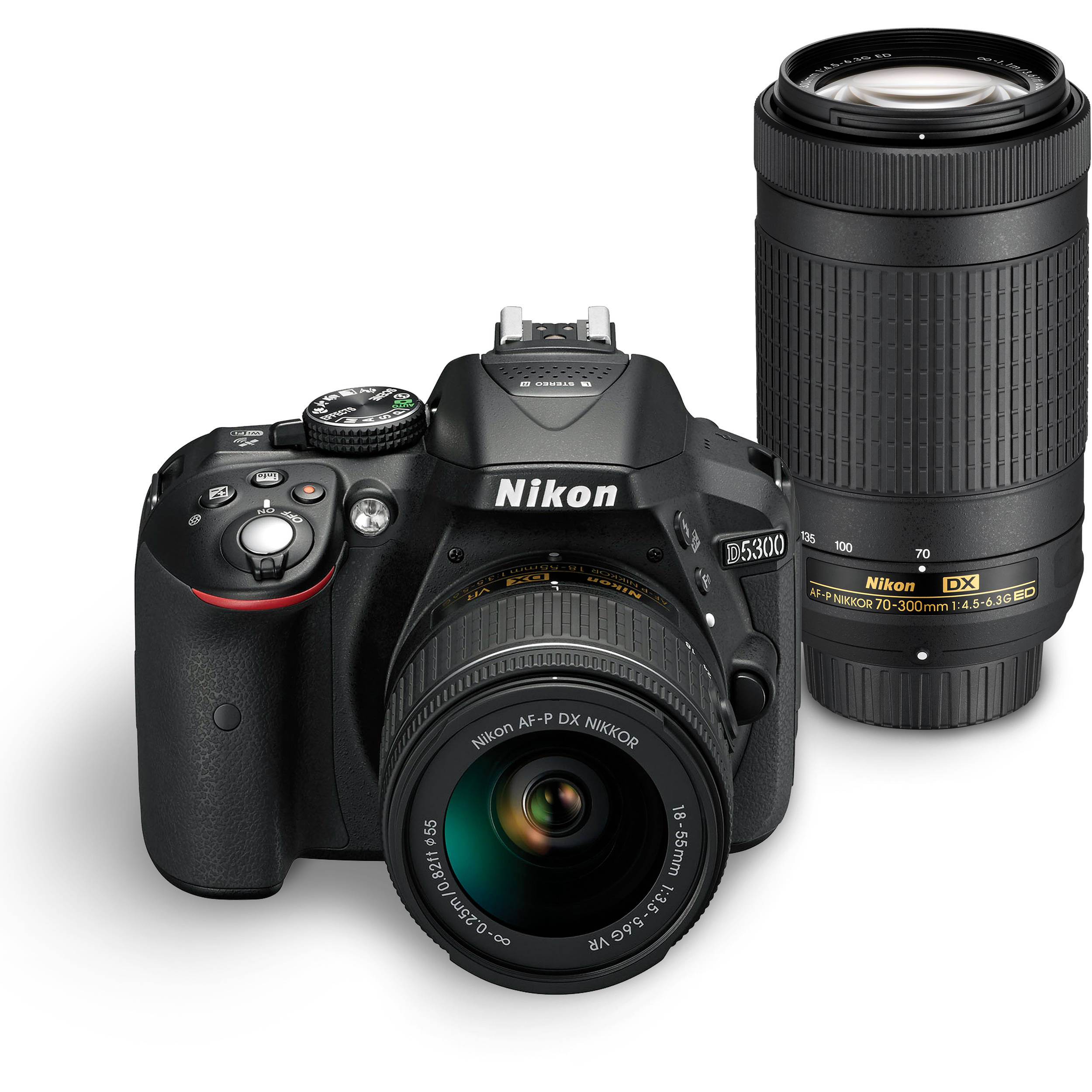 Nikon D5300 DSLR Camera Dual Lens Kit 1579 B&H Photo Video