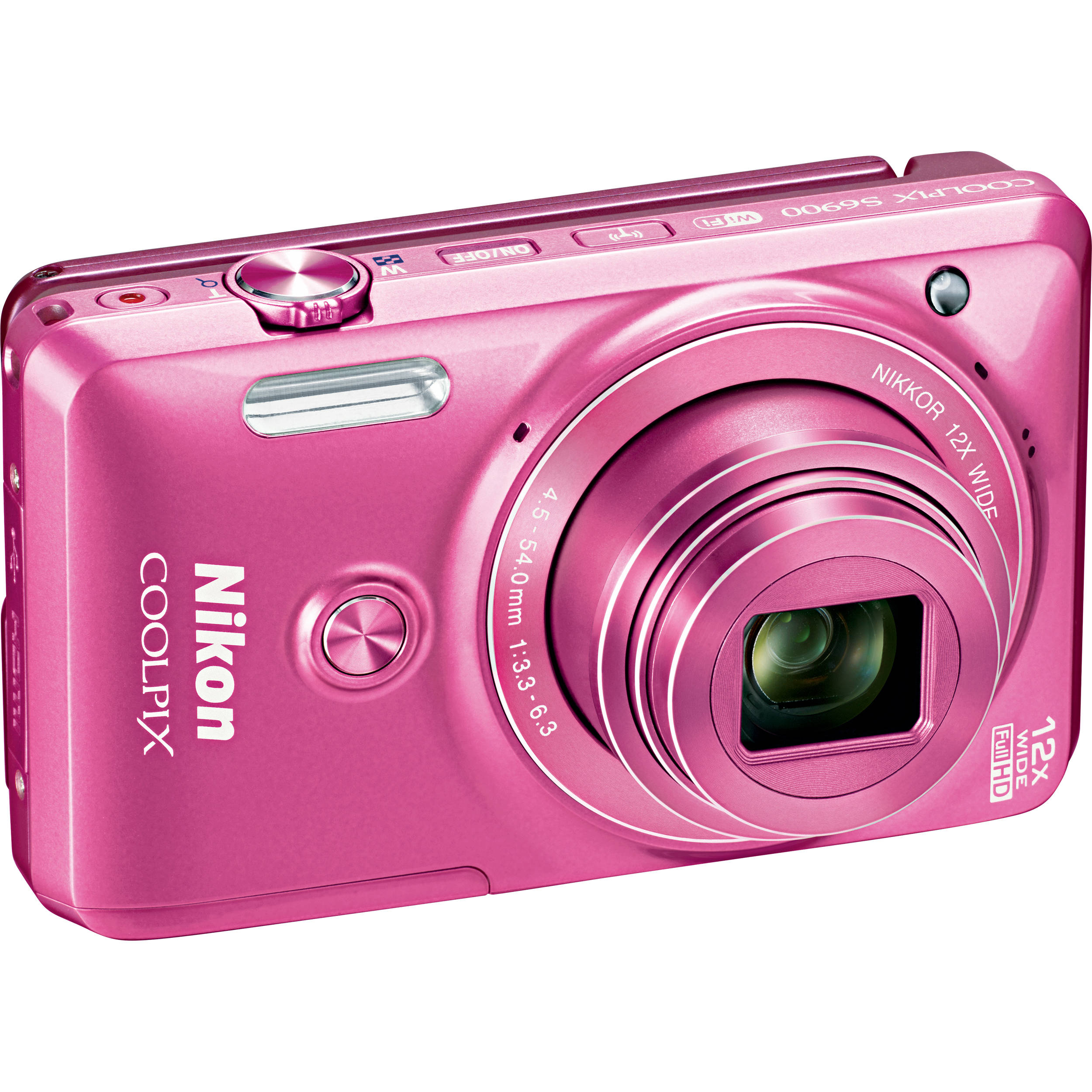 Nikon COOLPIX S6900 Digital Camera (Pink) 26474 B&H Photo