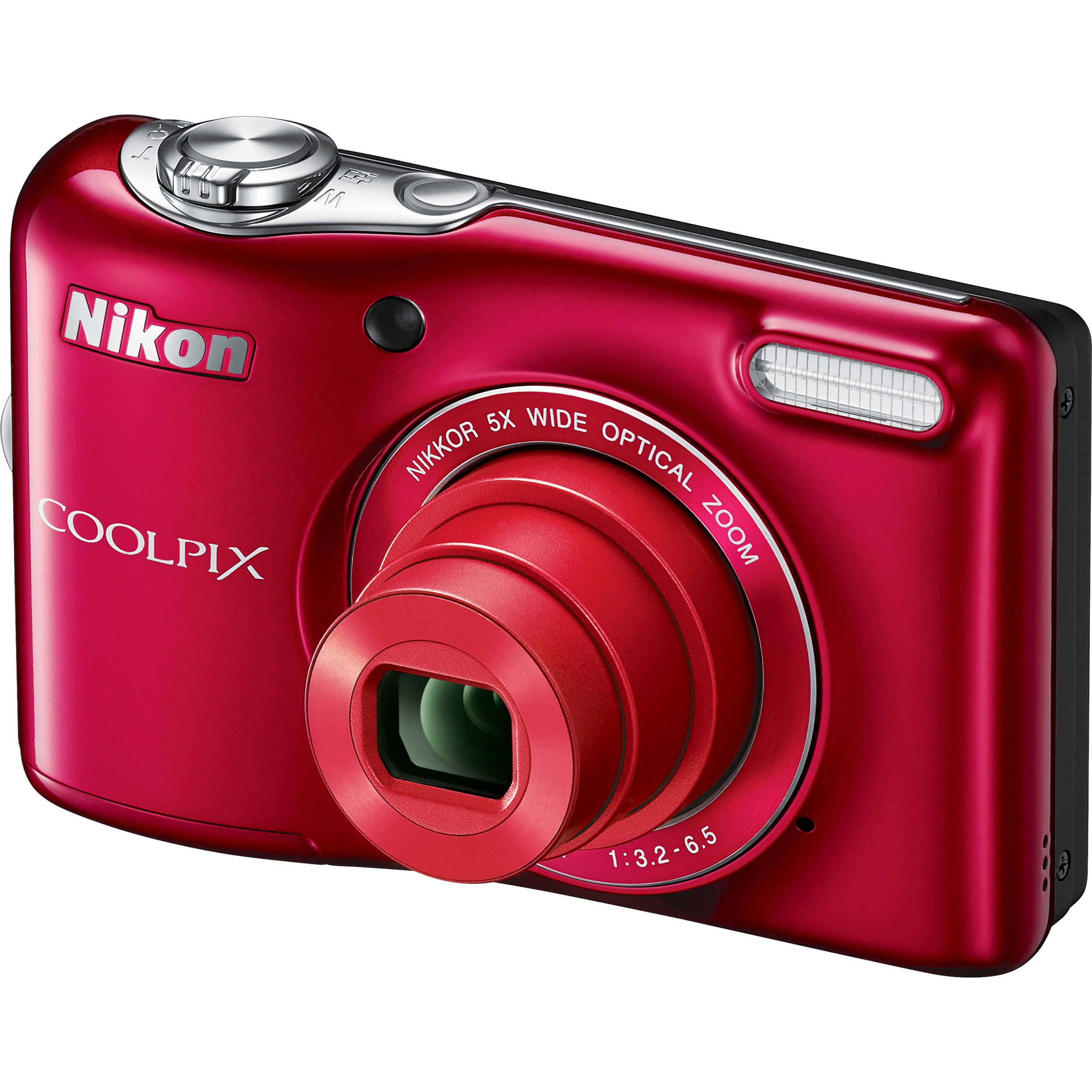 Nikon COOLPIX L32 Digital Camera Red B&H Video