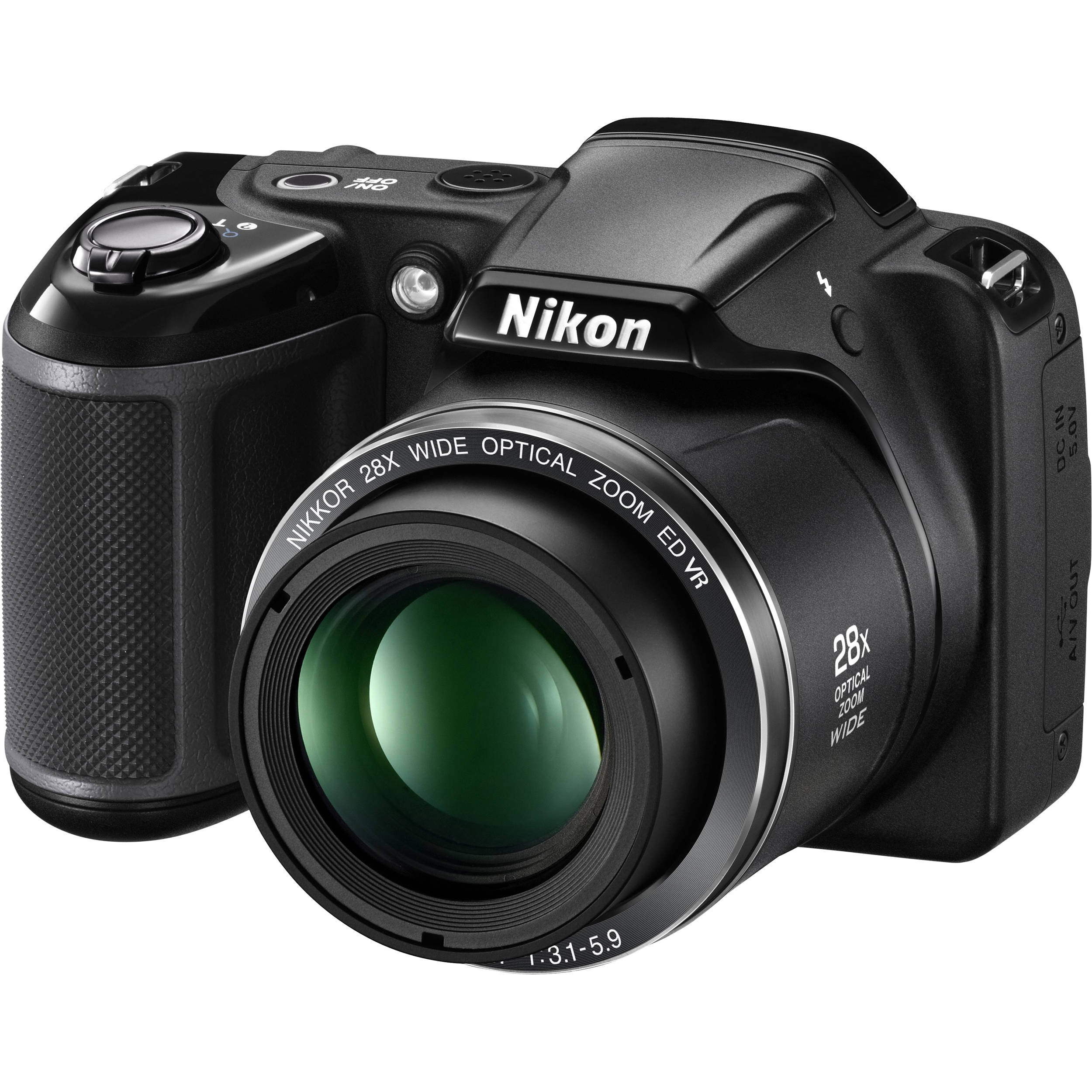 Nikon COOLPIX L340 Digital Camera (Black) 26484 B&H Photo Video