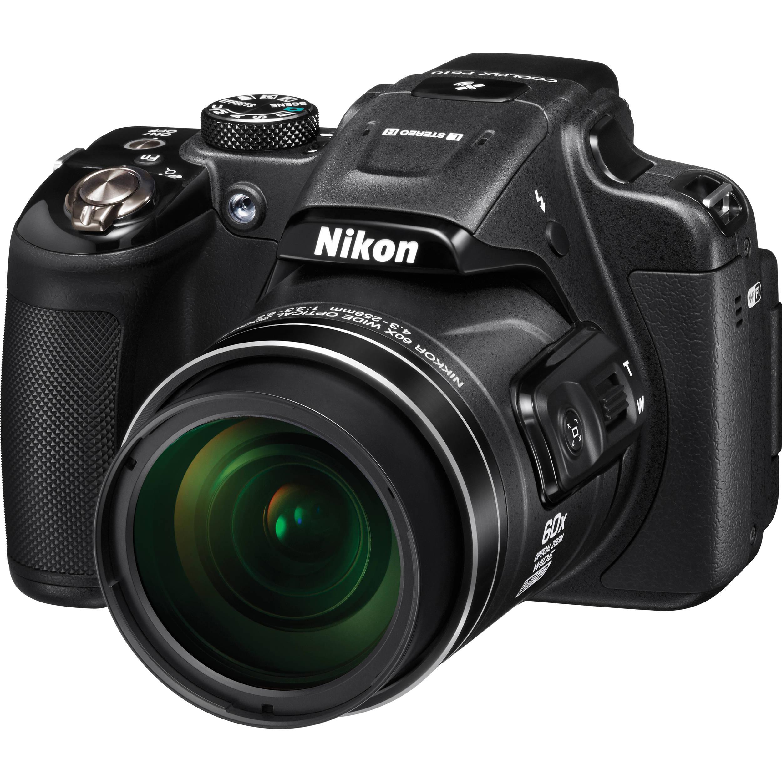 Nikon COOLPIX P610 Digital Camera Black Refurbished B