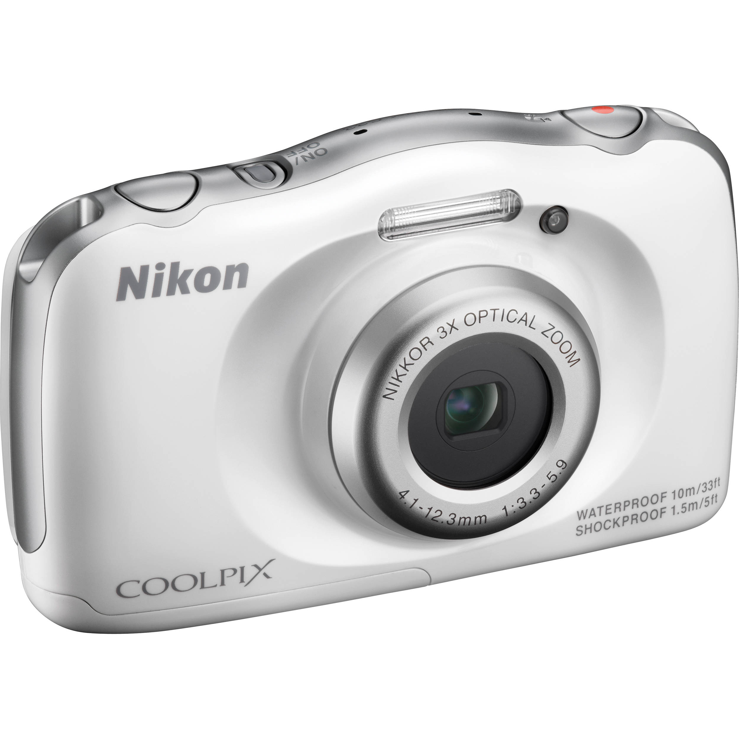 nikon coolpix s33 digital camera white 26495 b h photo video. Black Bedroom Furniture Sets. Home Design Ideas