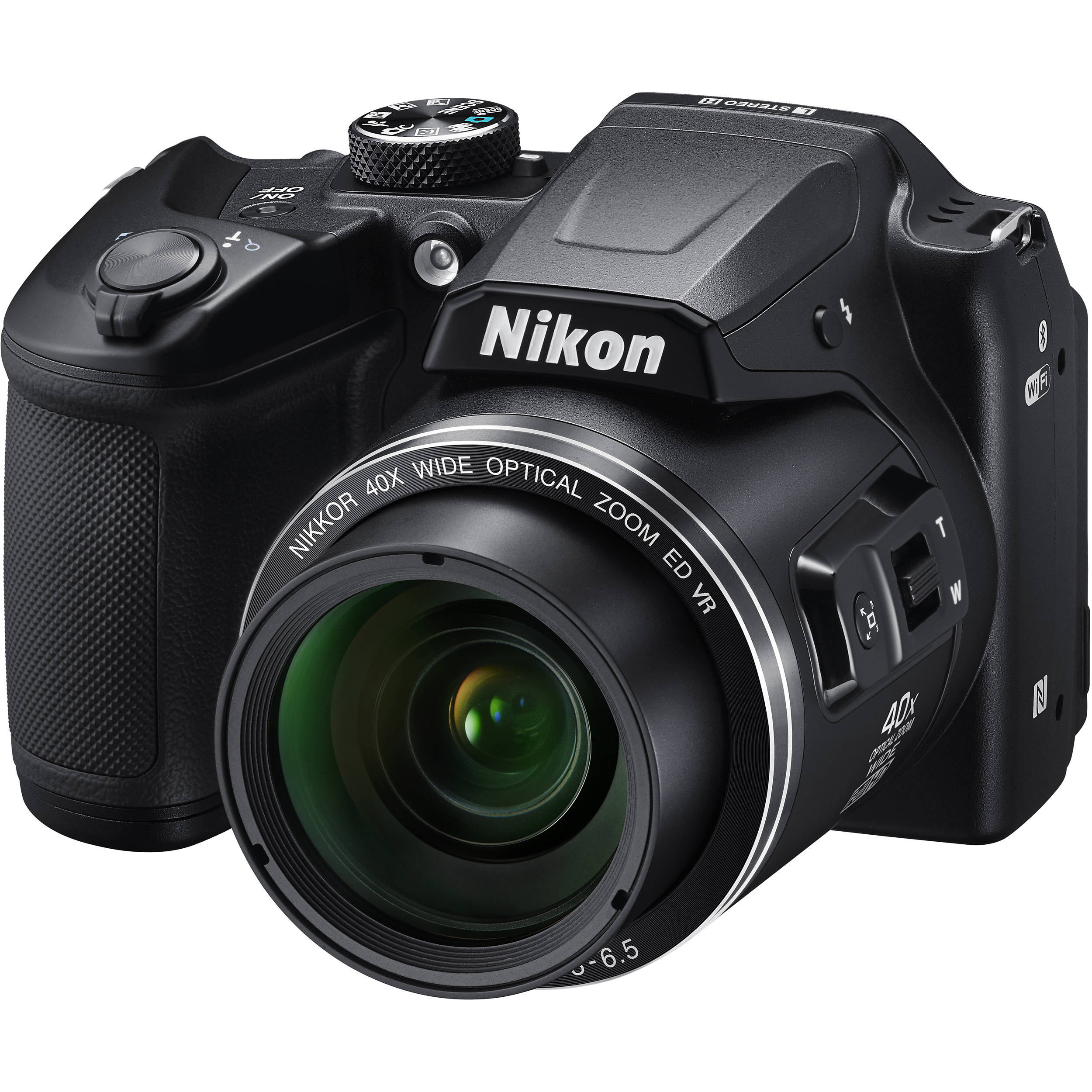 Nikon COOLPIX B500 Digital Camera (Black) 26506 B&H Photo Video
