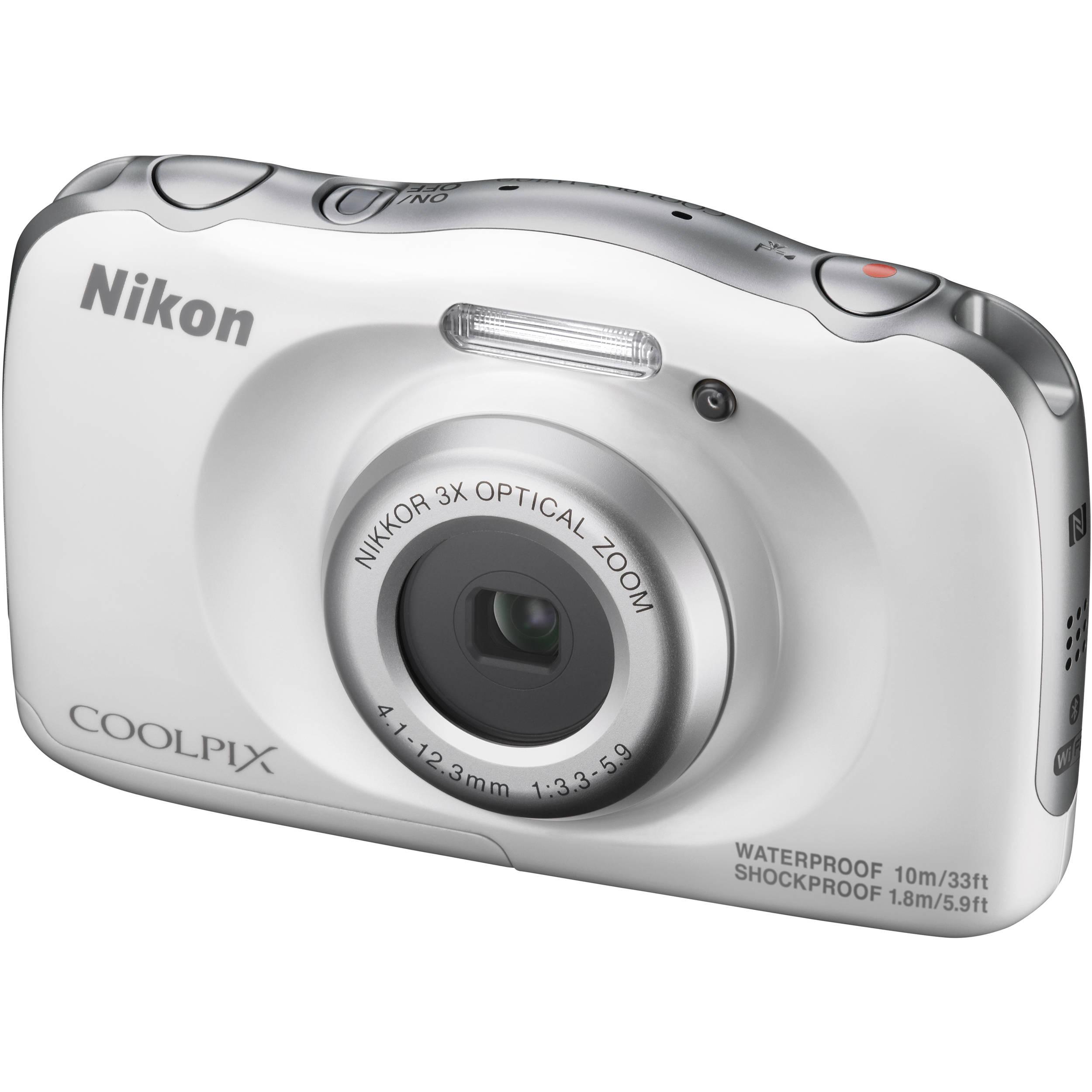 Nikon COOLPIX W100 Digital Camera (White) 26515 B&H Photo Video