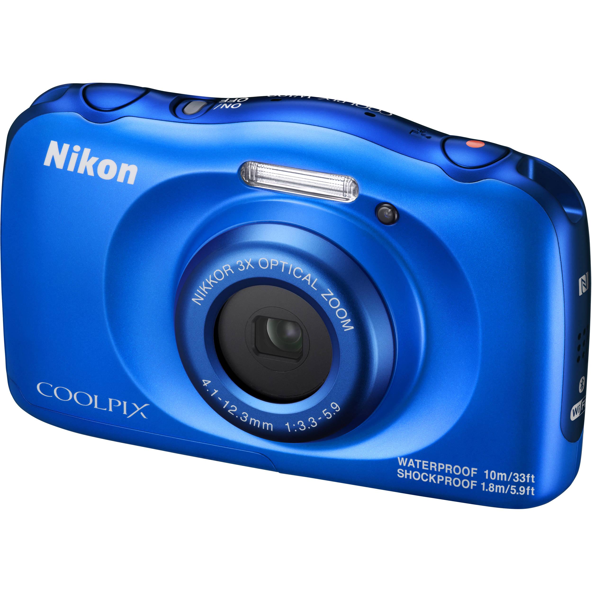 nikon coolpix w100 digital camera blue 26516 b h photo video rh bhphotovideo com