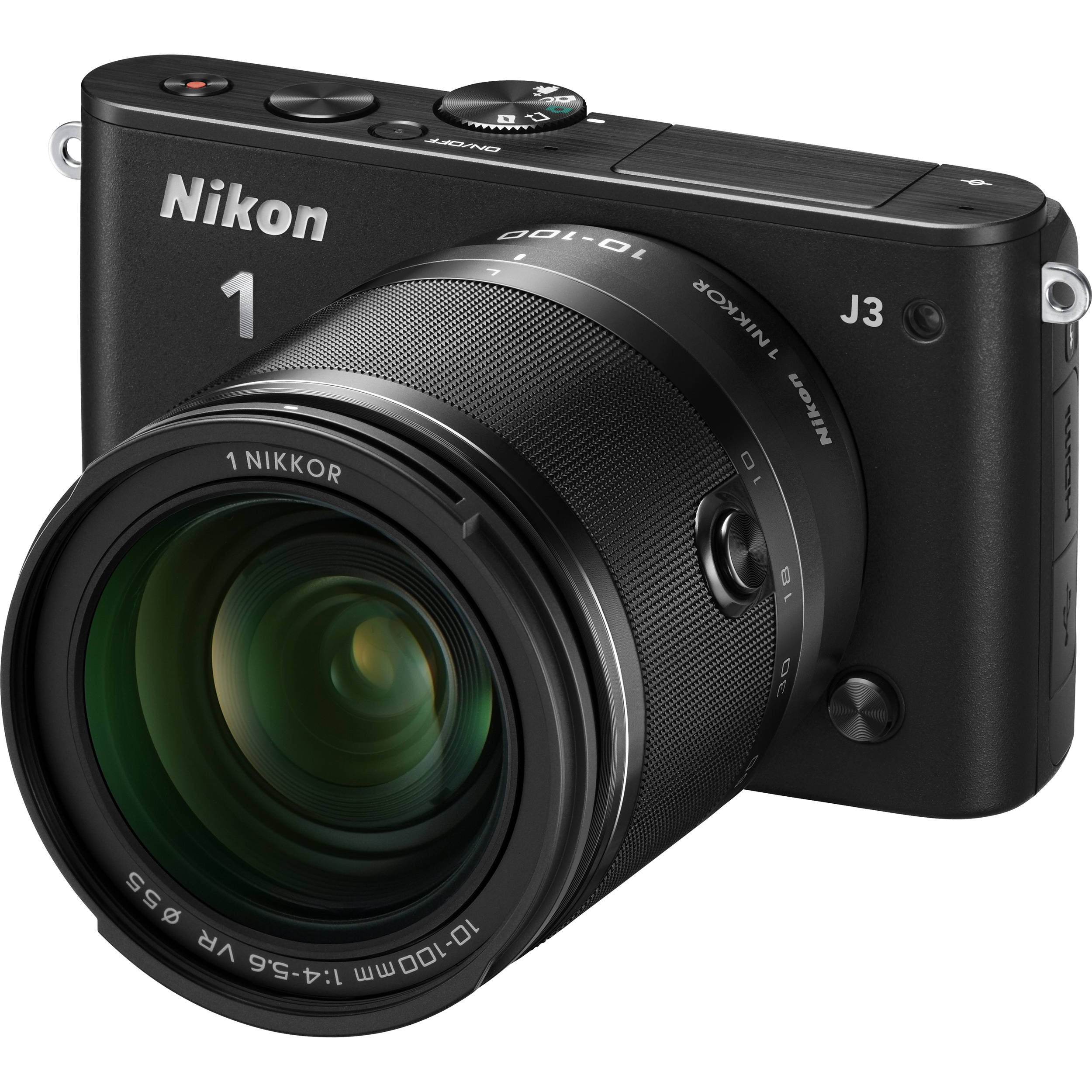 Nikon 1 J3 14.2MP Digital Camera - White (Kit w/ VR 10 ...