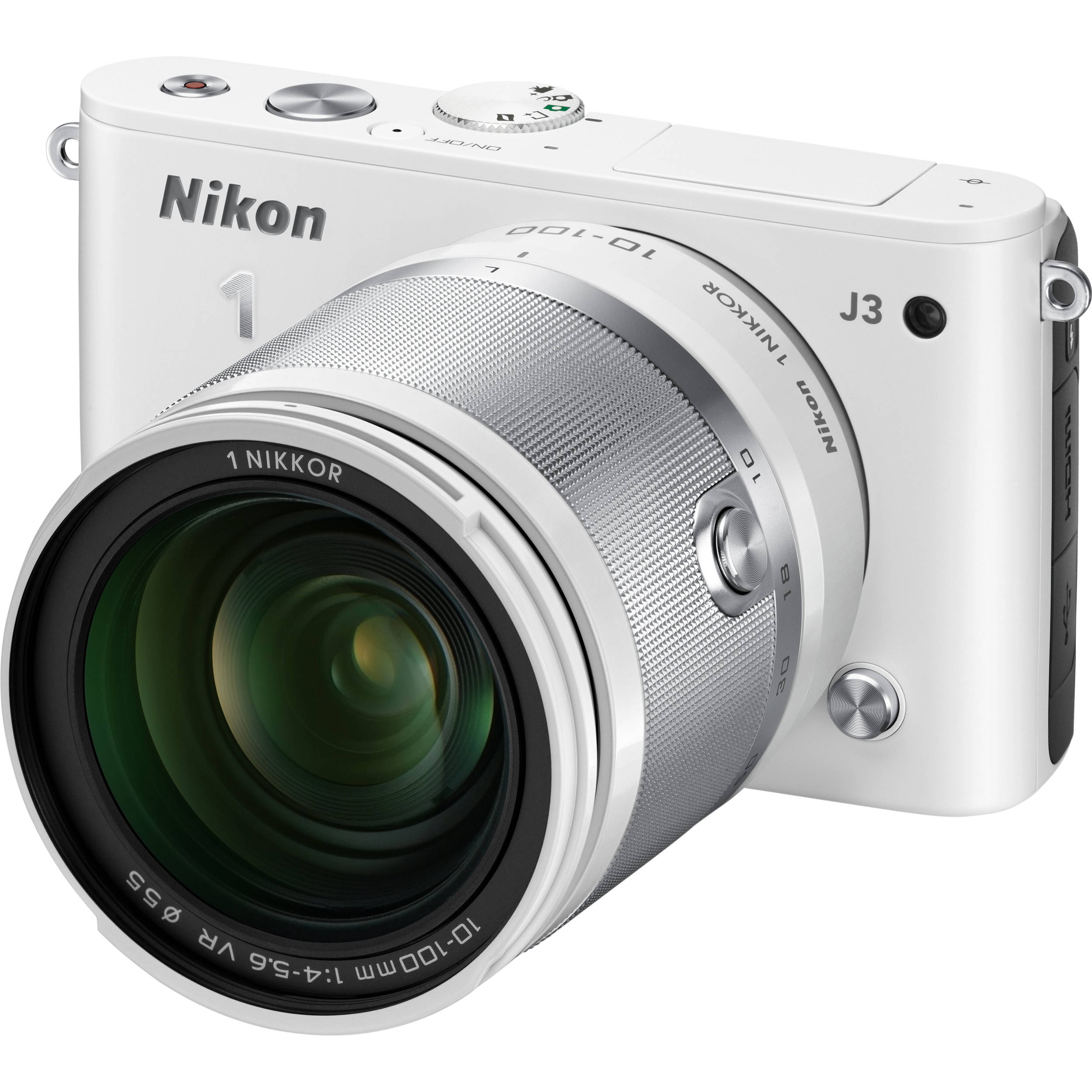 Nikon 1 j3 mirrorless digital camera with 10 100mm lens 27658