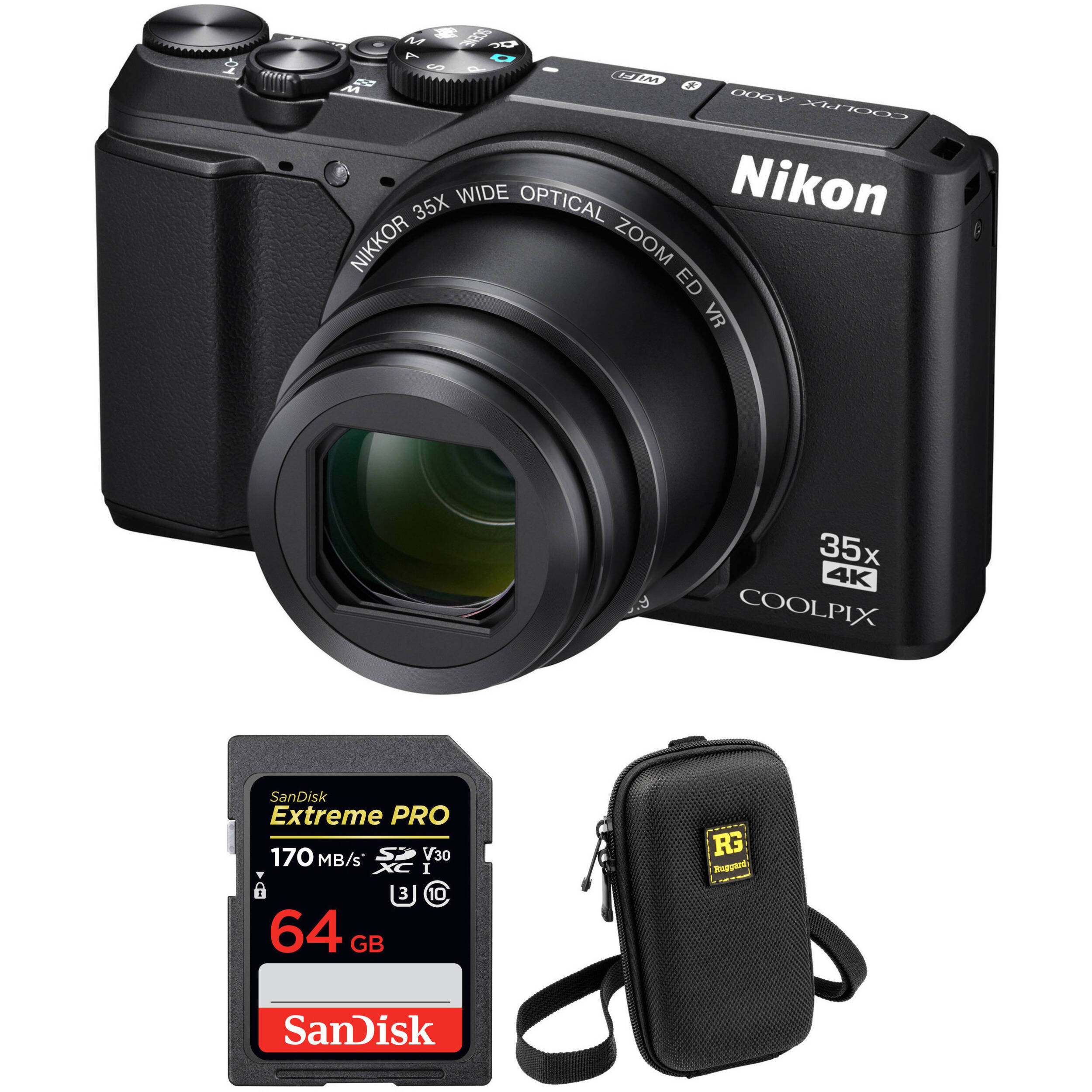 Nikon COOLPIX A900 Digital Camera With Free Accessory Kit Black