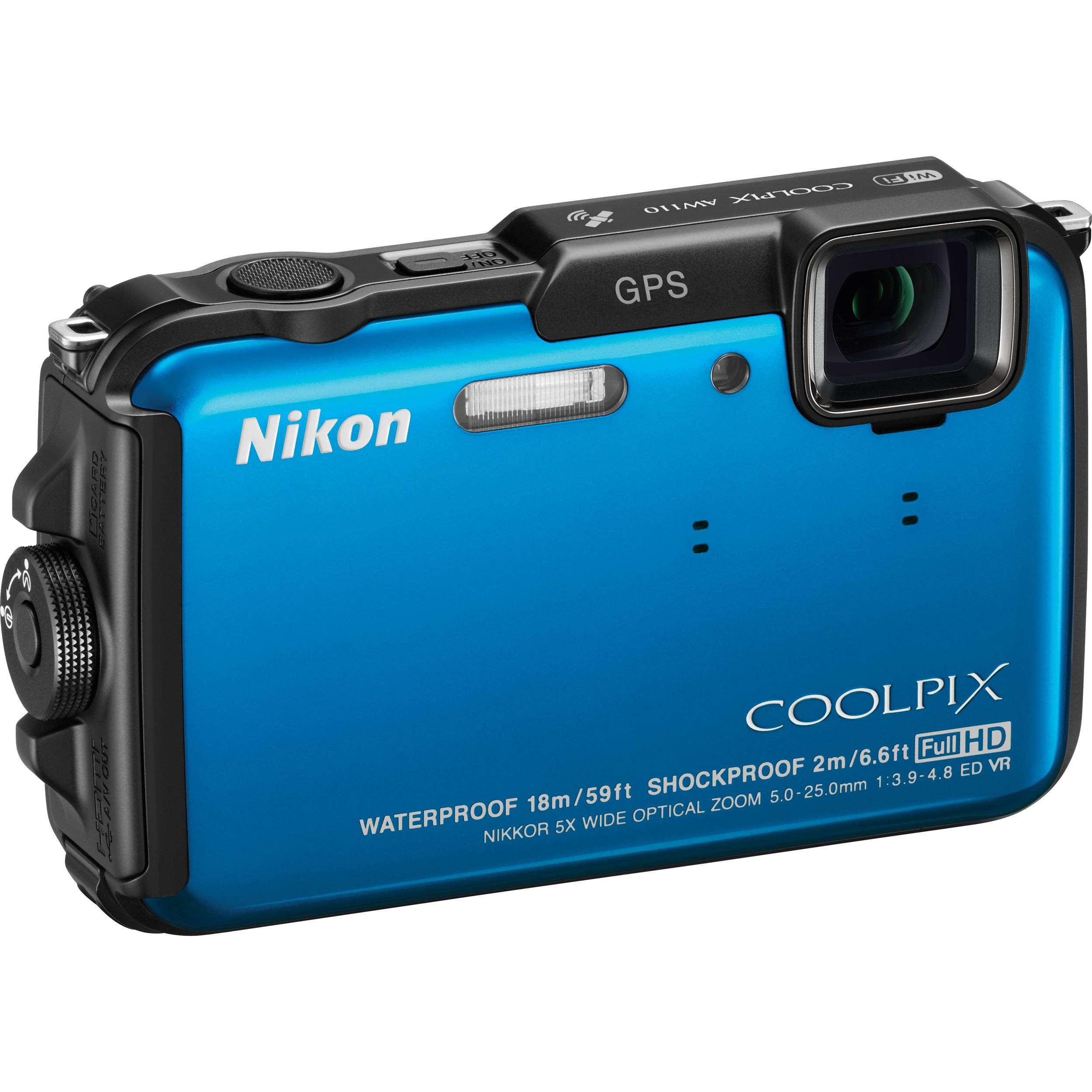 nikon coolpix aw110 digital camera blue 26411 b h photo. Black Bedroom Furniture Sets. Home Design Ideas