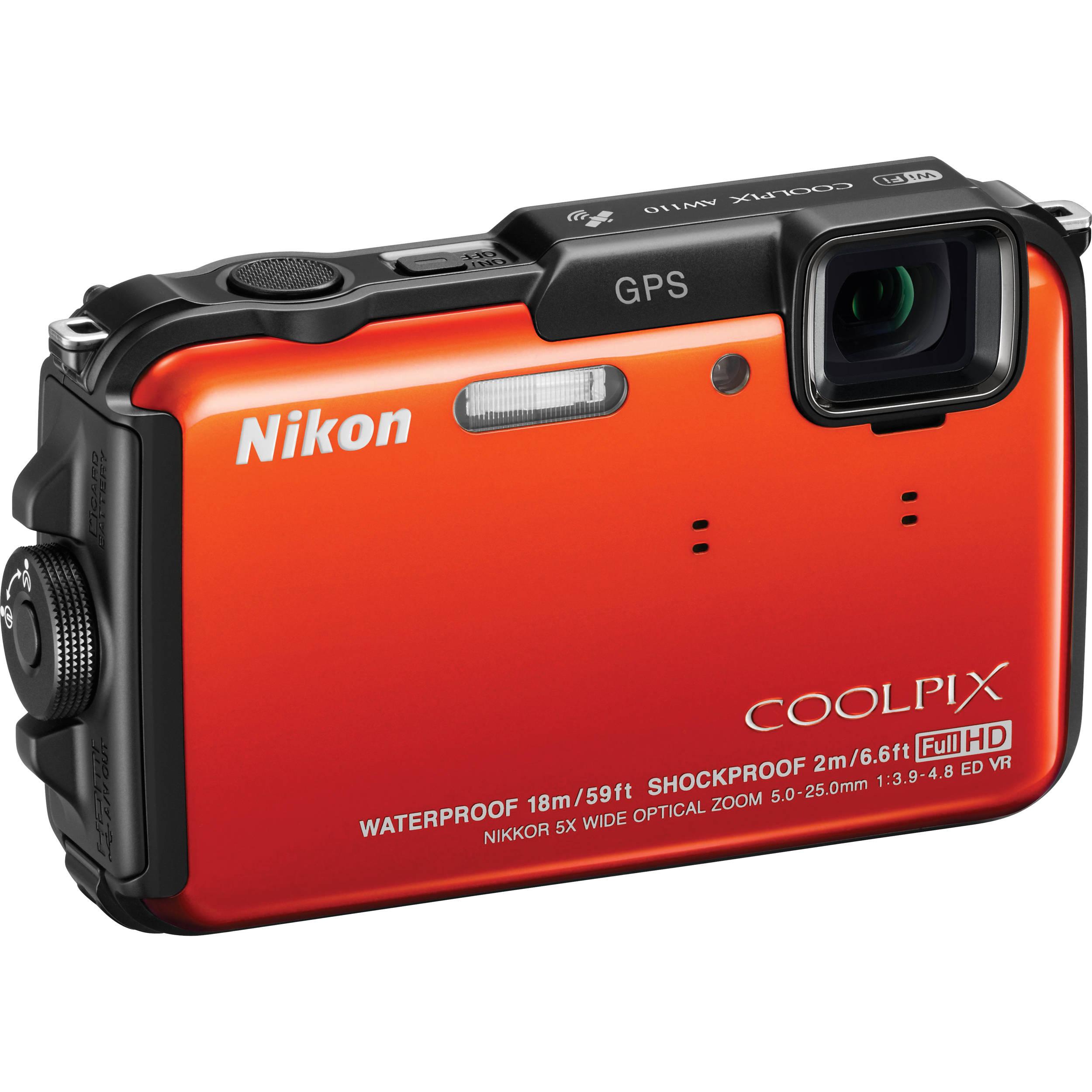 nikon coolpix aw110 digital camera orange 26412 b h photo rh bhphotovideo com nikon aw110 manuale italiano nikon aw110 manuale italiano