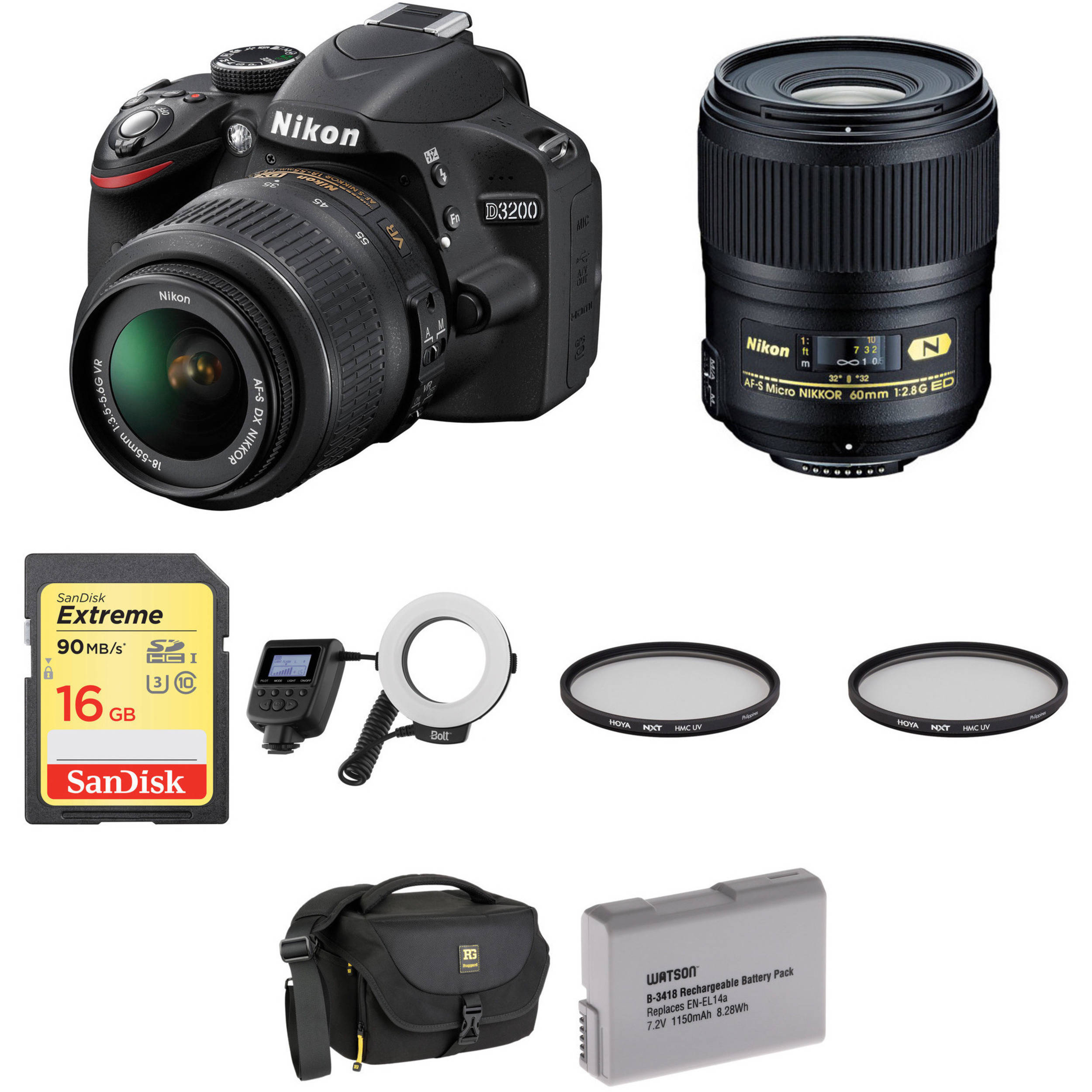 nikon d3200 dslr dental kit bamph photo video