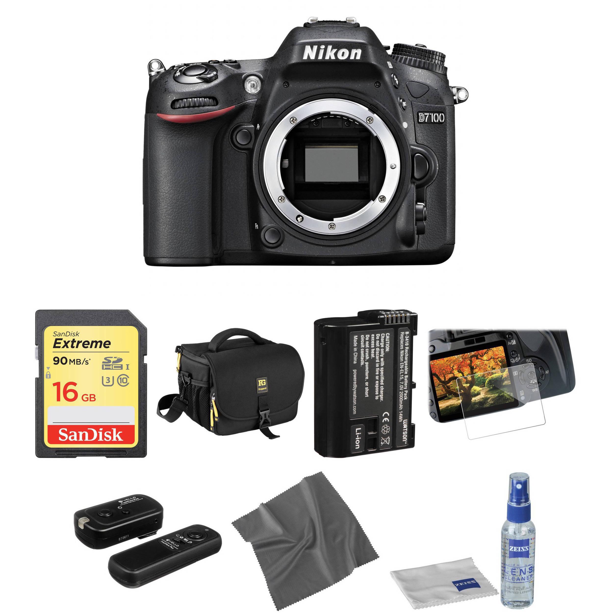 Nikon D7100 DSLR Camera Body Basic Kit B&H Photo Video