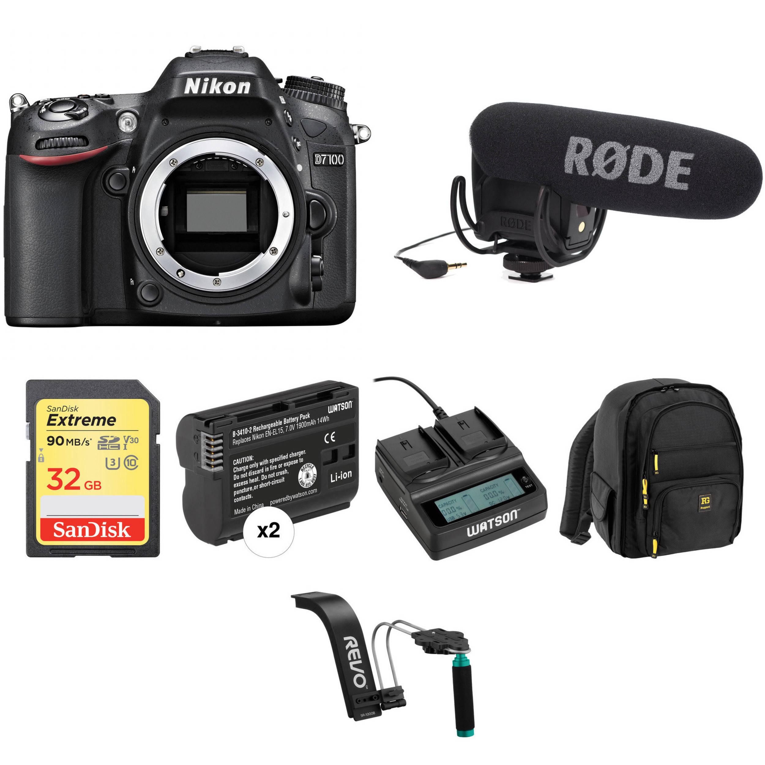 Nikon D7100 DSLR Camera (Body Only) Video Production Kit B&H