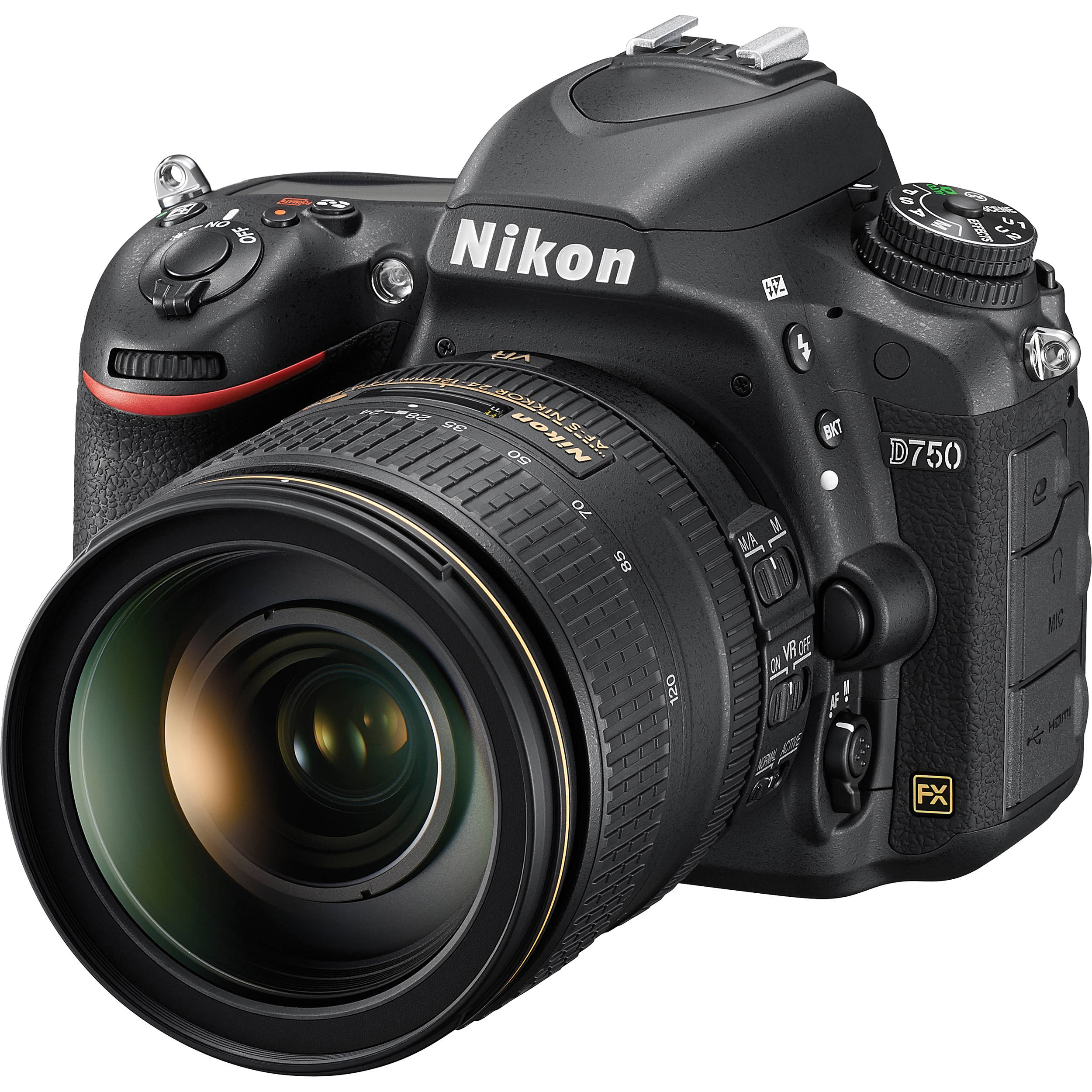 Nikon d750 dslr camera with 24 120mm lens 1549 b h photo video for Camera camera