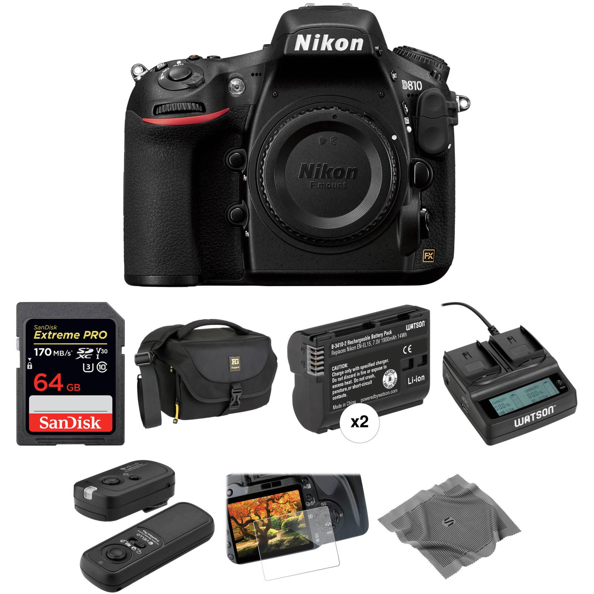 Nikon D810 Dslr Camera Body Deluxe Kit Bh Photo Video Rain Sound Effects Generator Circuit Voice Recorder