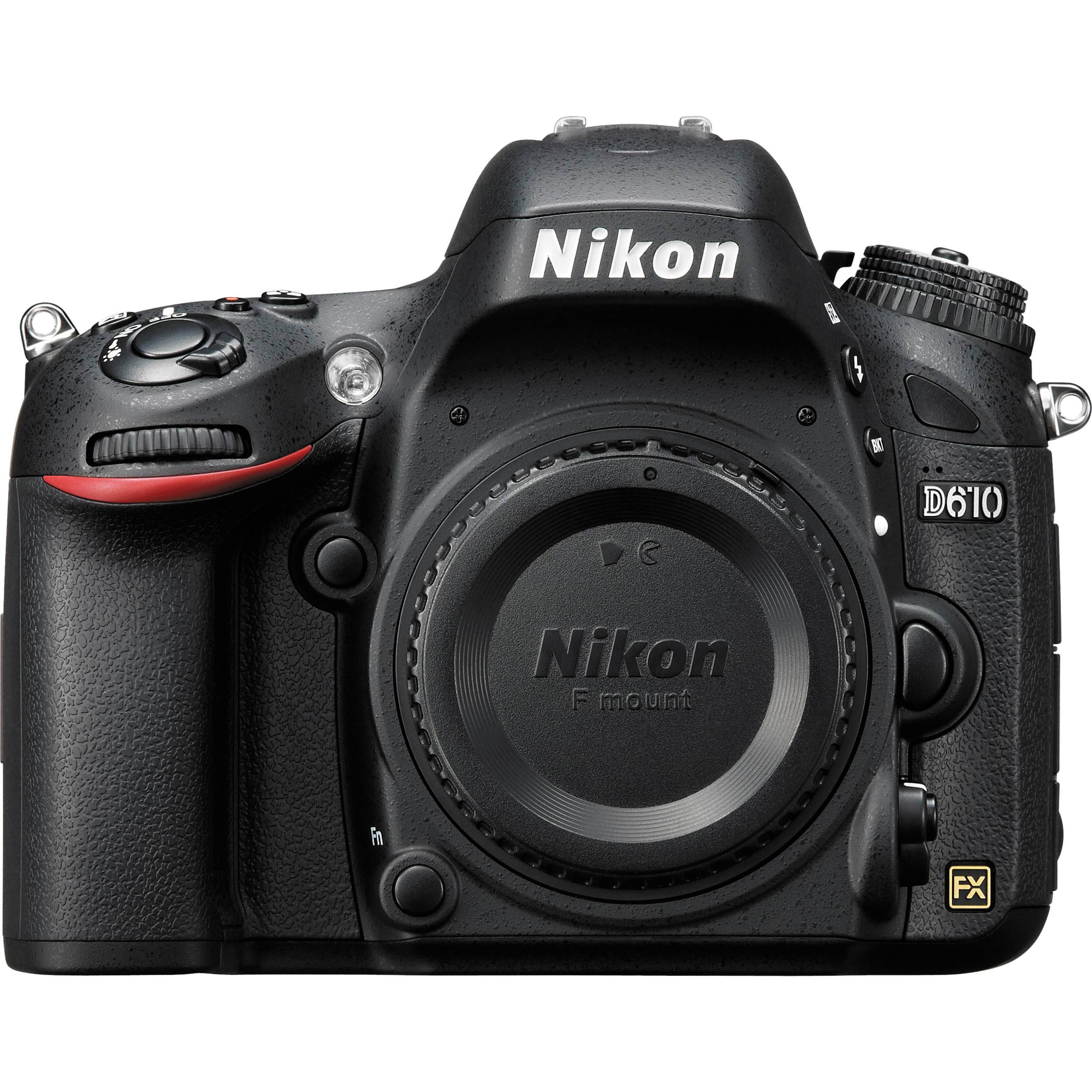 Nikon D610 DSLR Camera Body 1540 B&H Photo Video