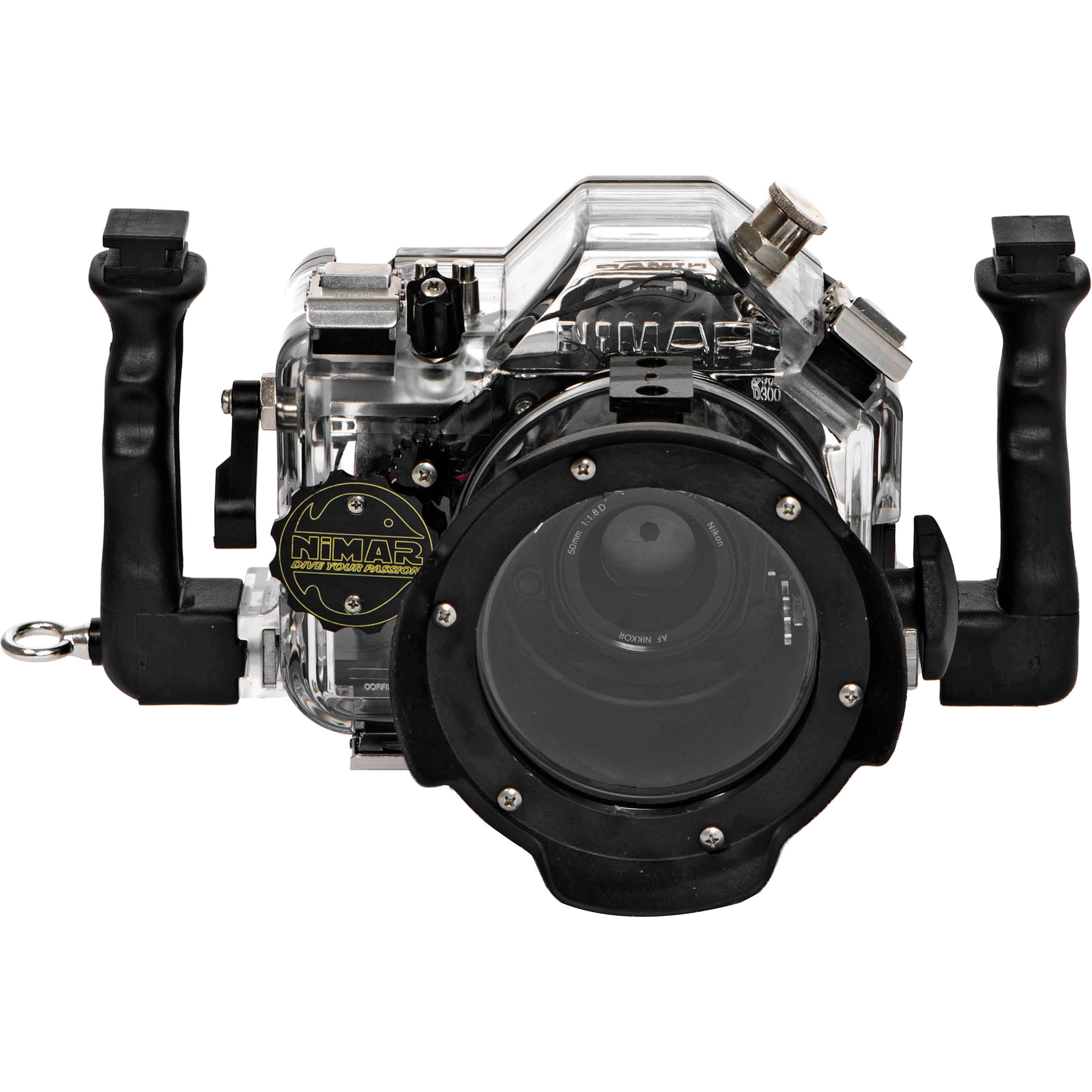 Camera Nikon D300 Dslr Camera nimar underwater housing for nikon d300 dslr camera ni303d300m shown with optional accessories