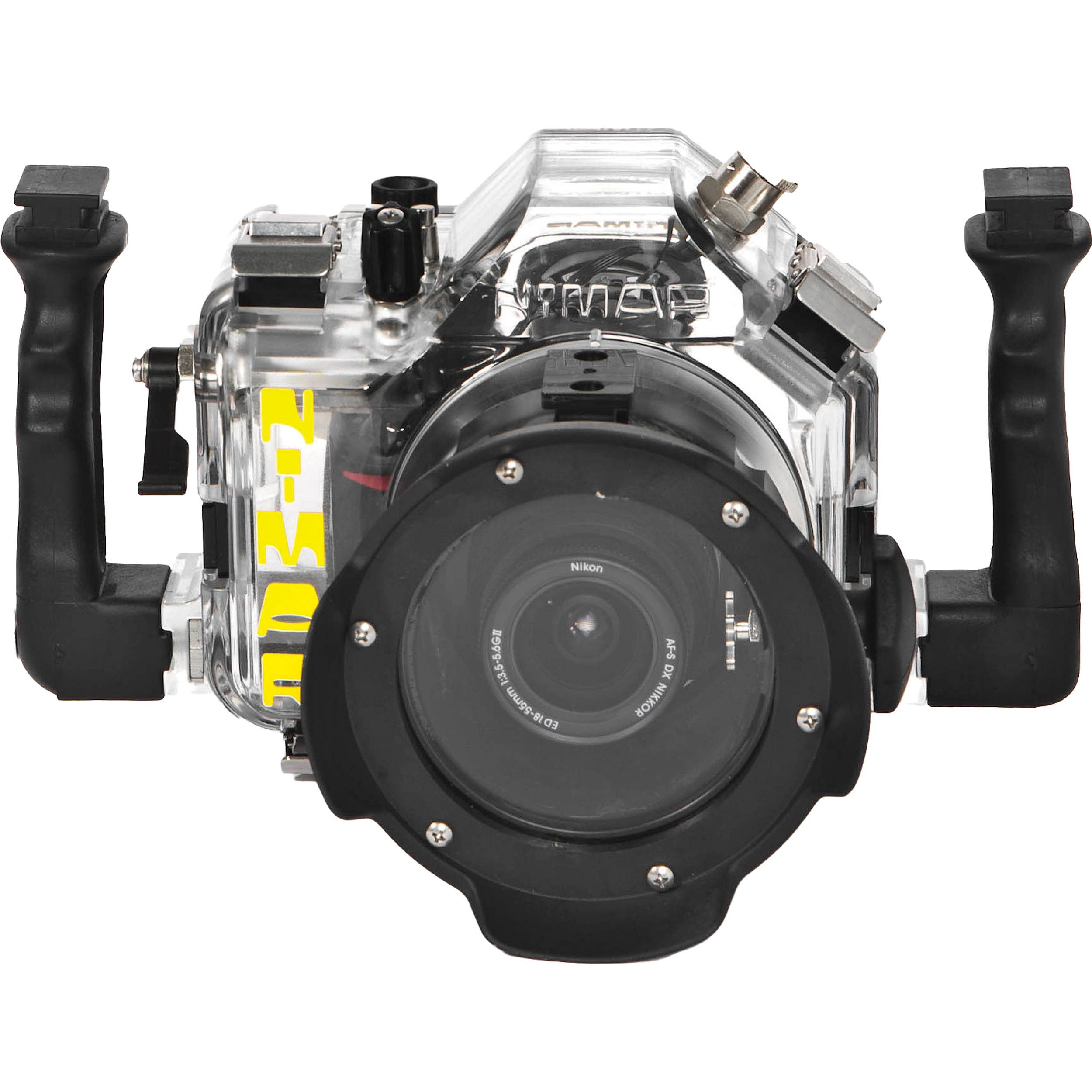 Camera Dslr Camera Without Lens nimar underwater housing for nikon d3000 dslr camera nid3000 bh without lens port shown with optional accessories