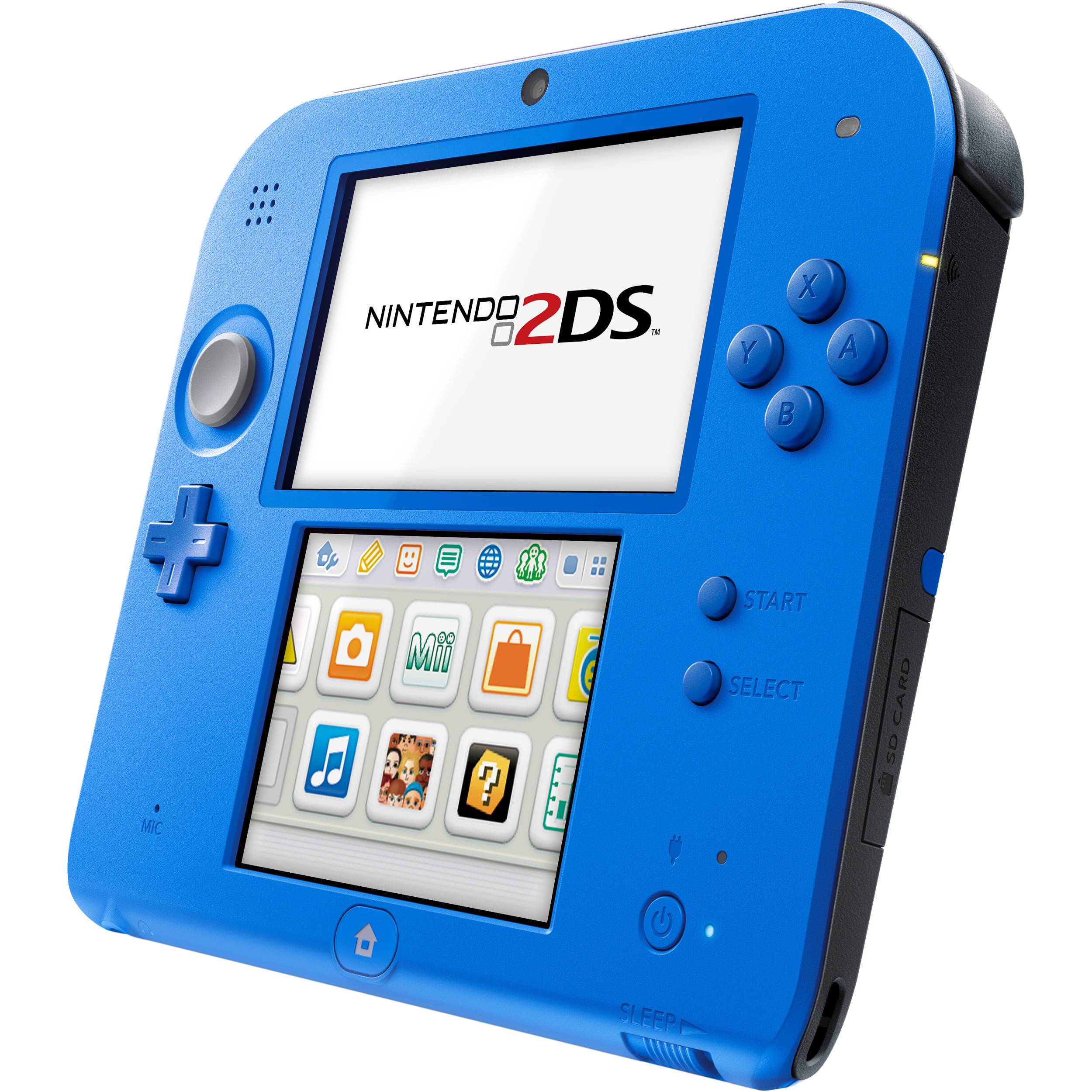 nintendo 2ds with mario kart 7 electric blue ftrsbcdh b h. Black Bedroom Furniture Sets. Home Design Ideas