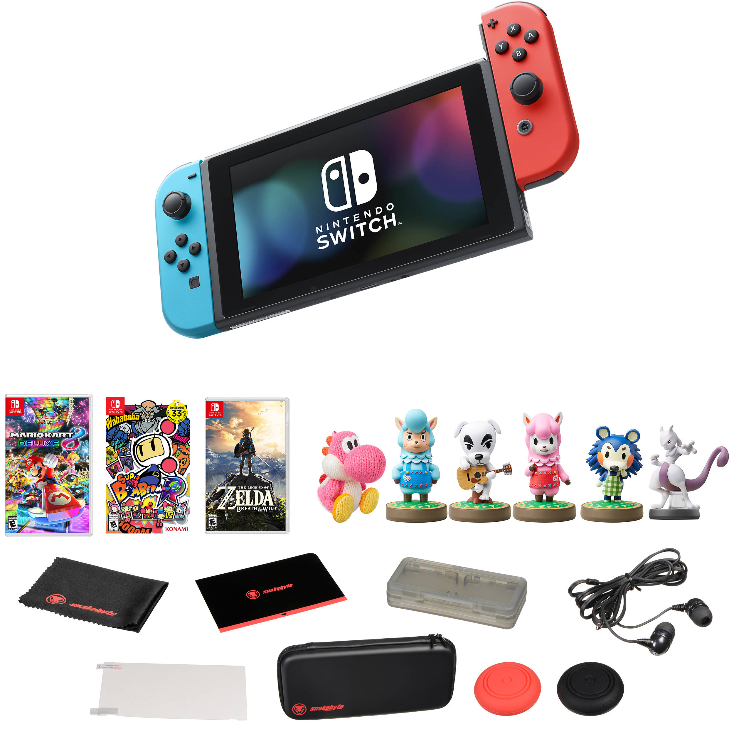 Nintendo Switch with Three Games & amiibo Kit B&H Photo