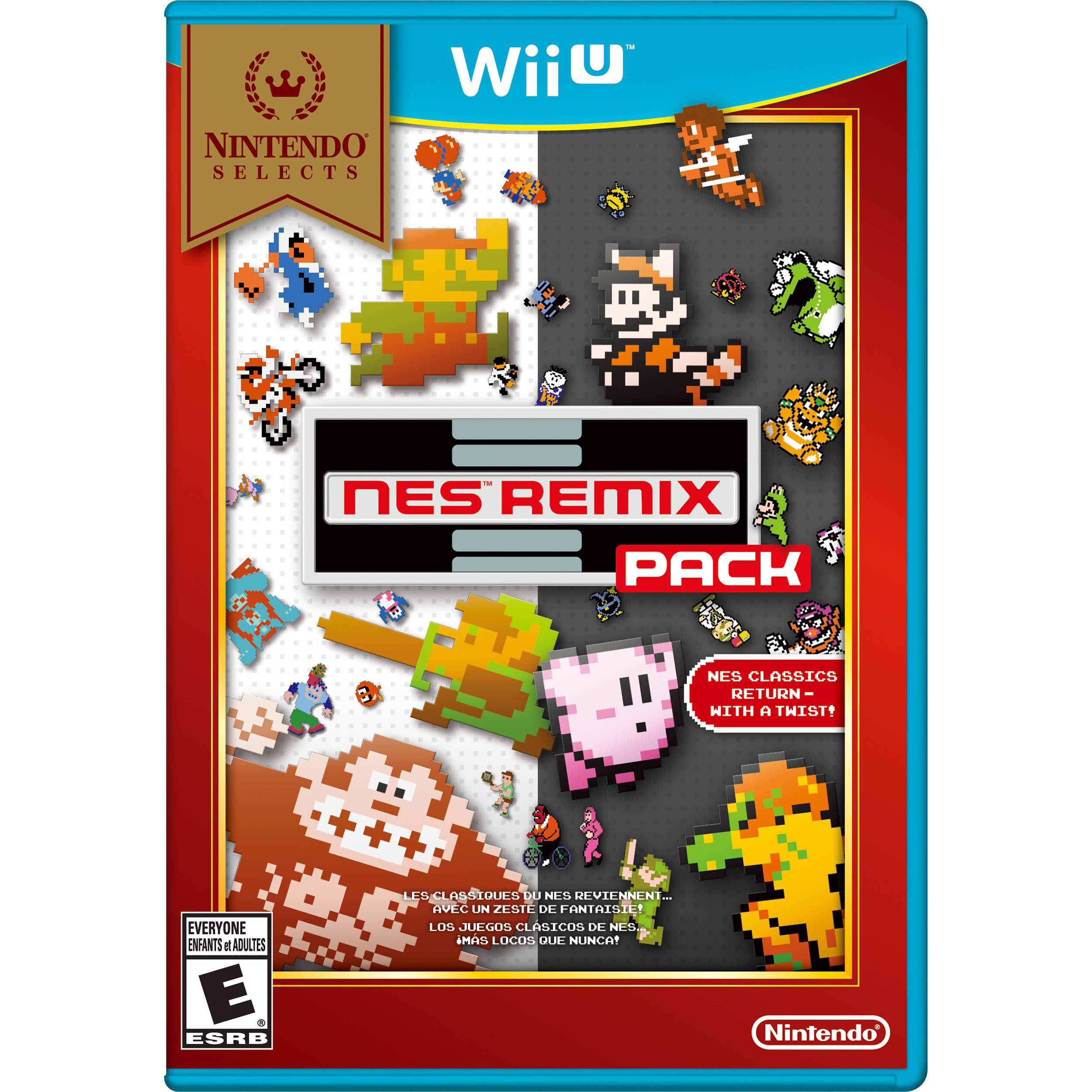 nintendo selects nes remix pack wii u wuppafd2 b h photo. Black Bedroom Furniture Sets. Home Design Ideas