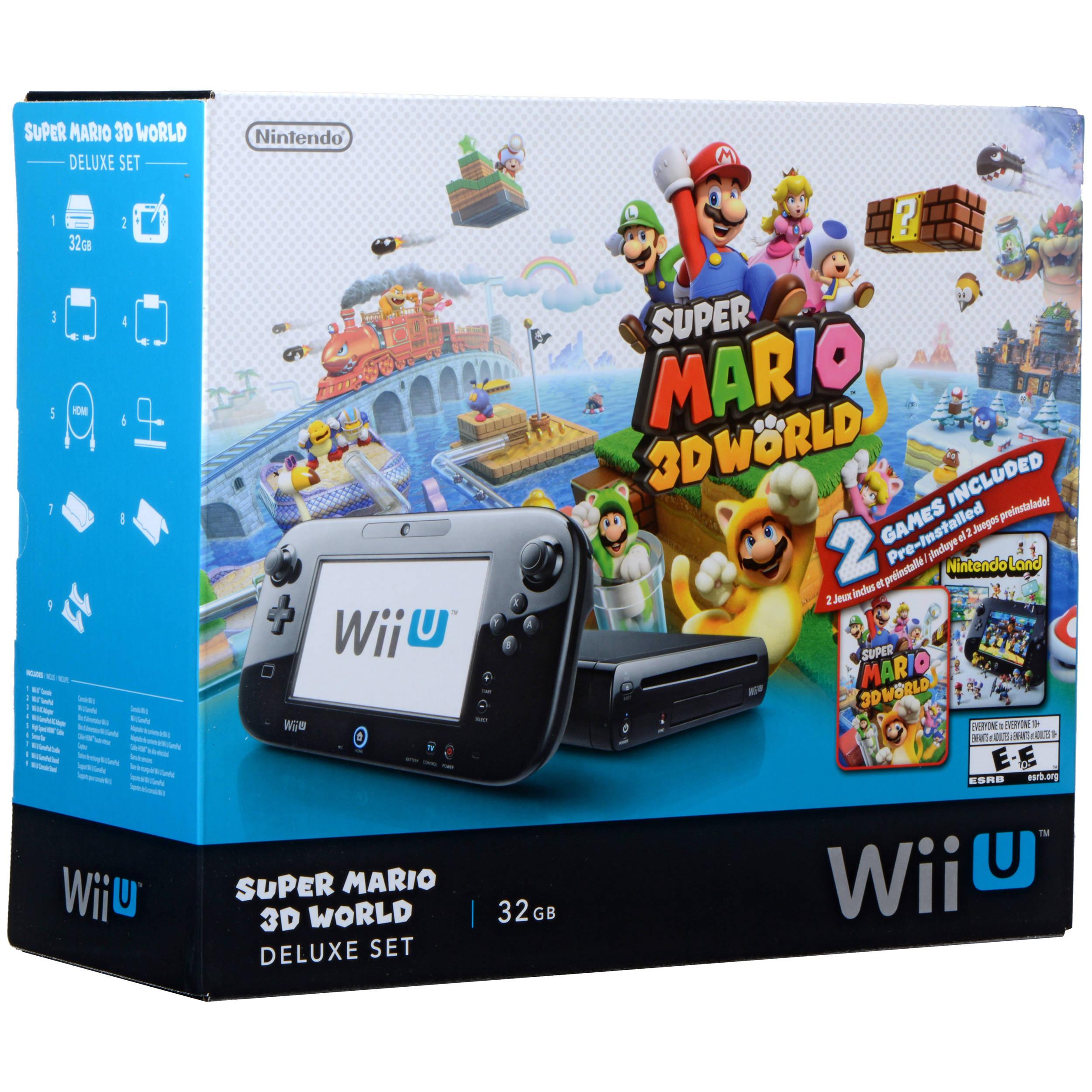Nintendo Wii U Super Mario 3D World Deluxe Bundle WUPSKAGF B